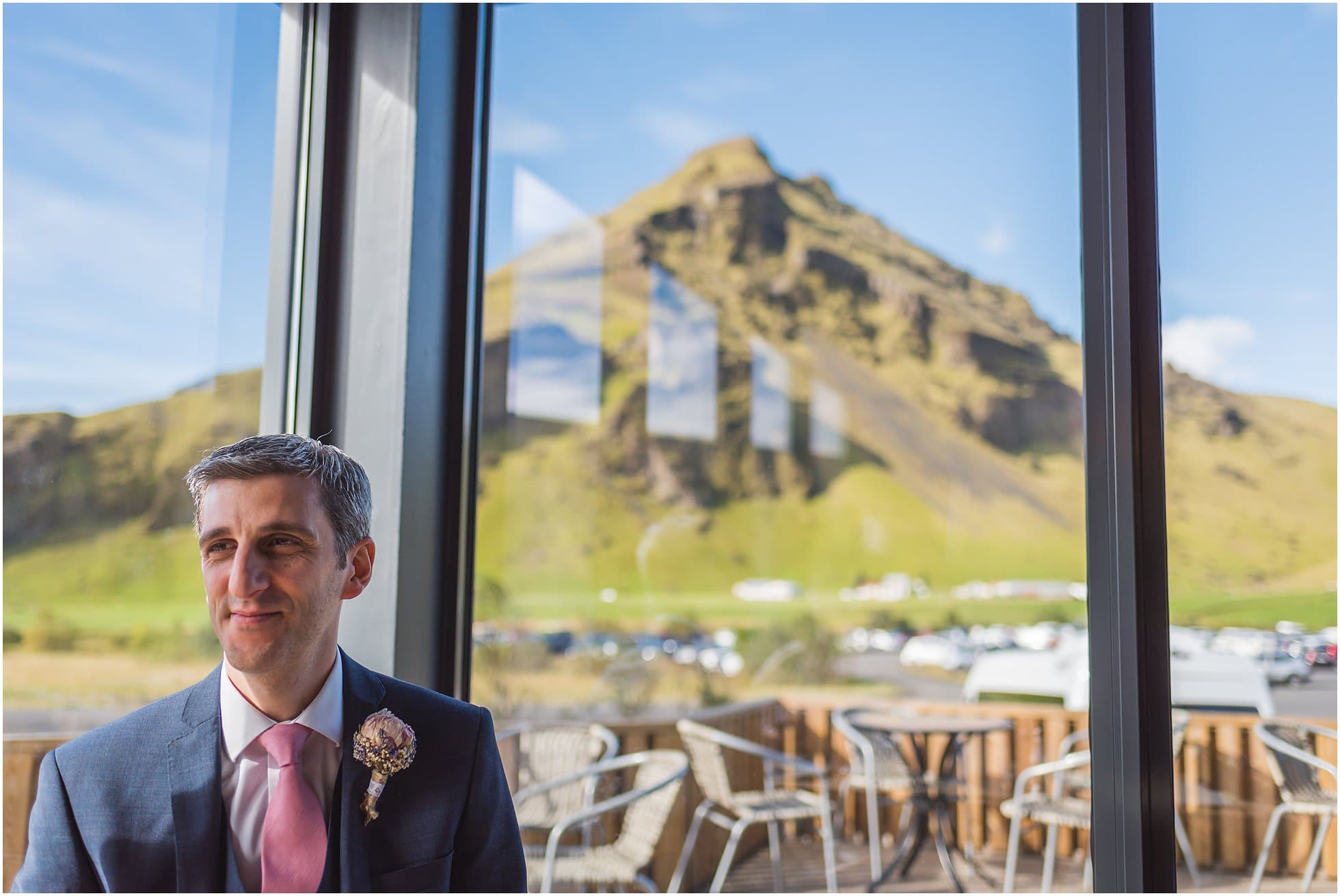Groom in the cafe