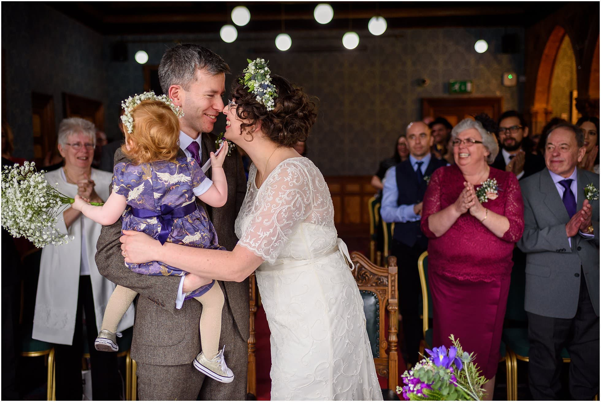 Highbury Hall Wedding Photographer - ceremony joy