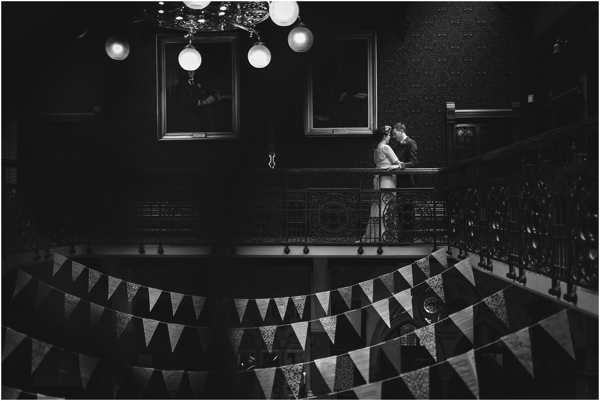 Black and white highbury hall wedding photography