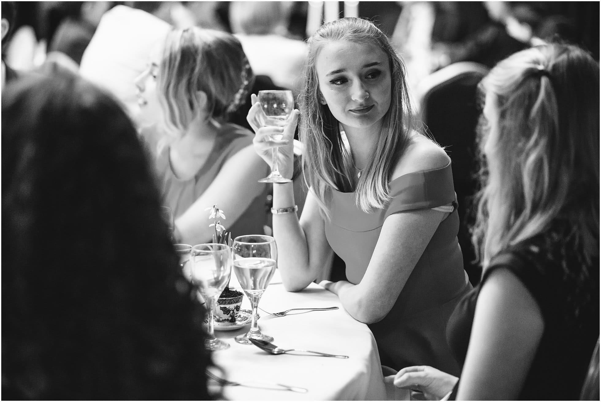 Guest enjoying her wine