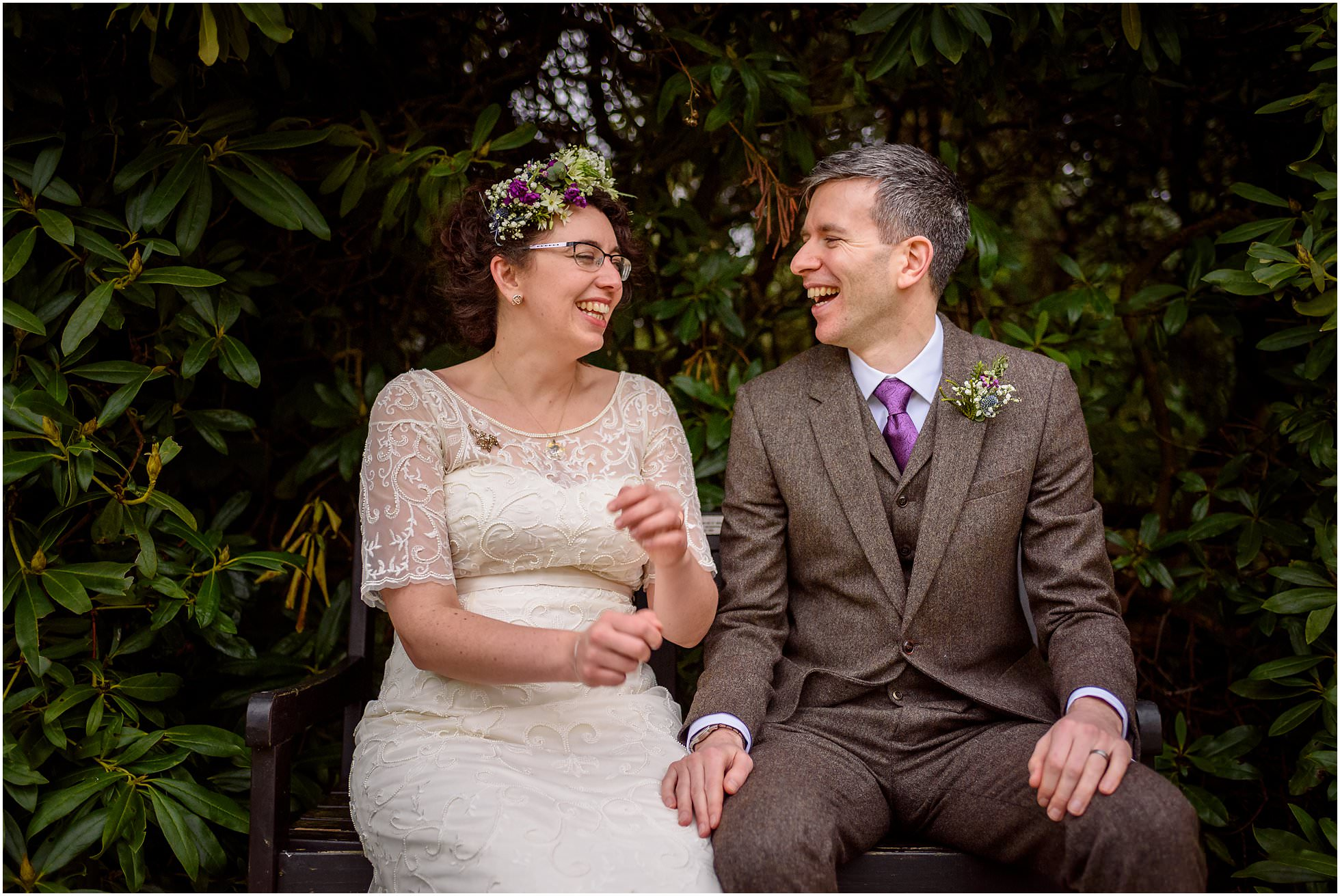 Wedding at Highbury Hall in the beautiful grounds for some candid relaxed protraits