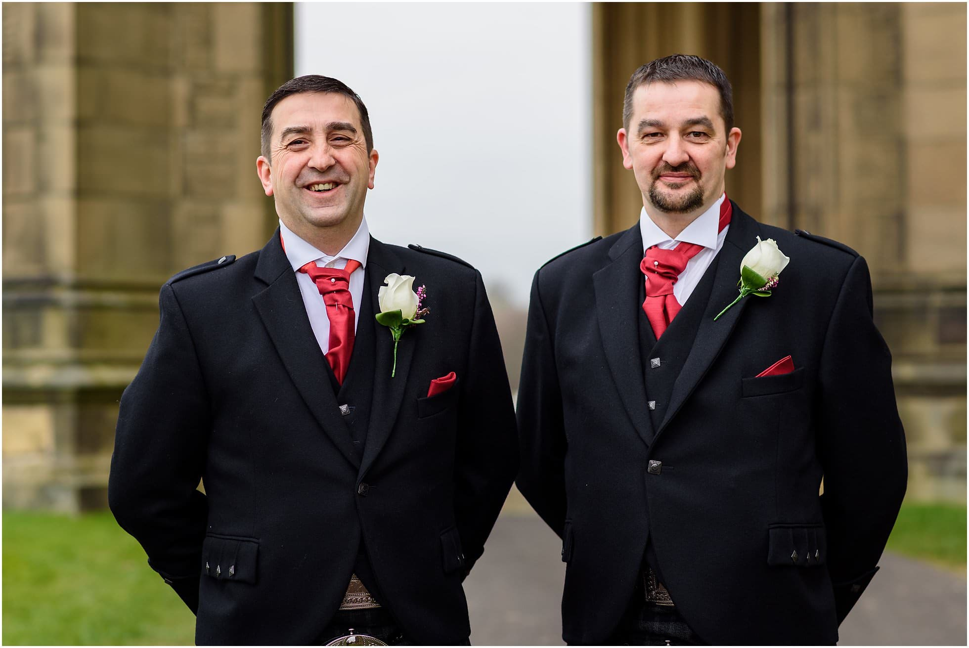Groom and best man on arrival