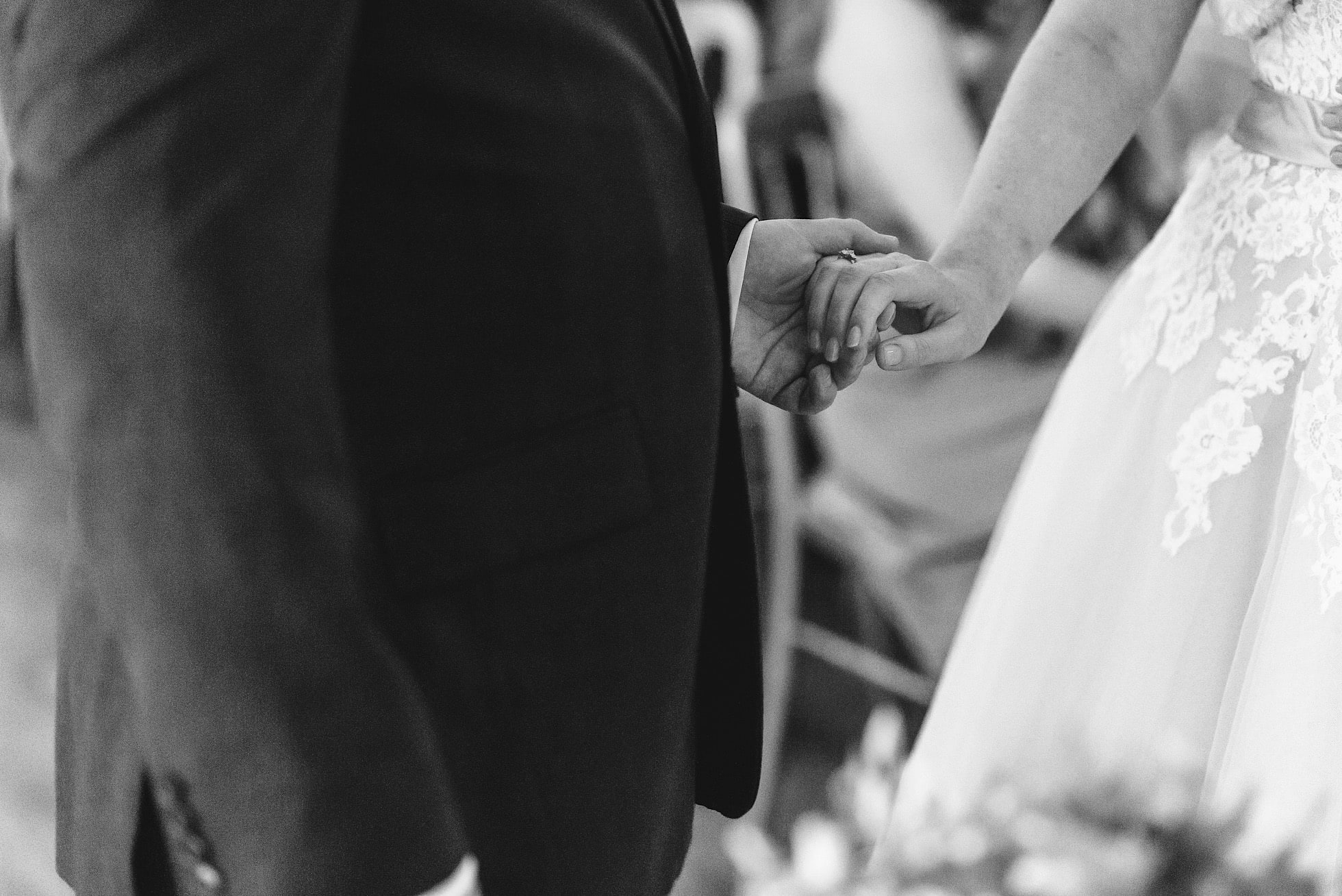 Hand holding during the ceremony