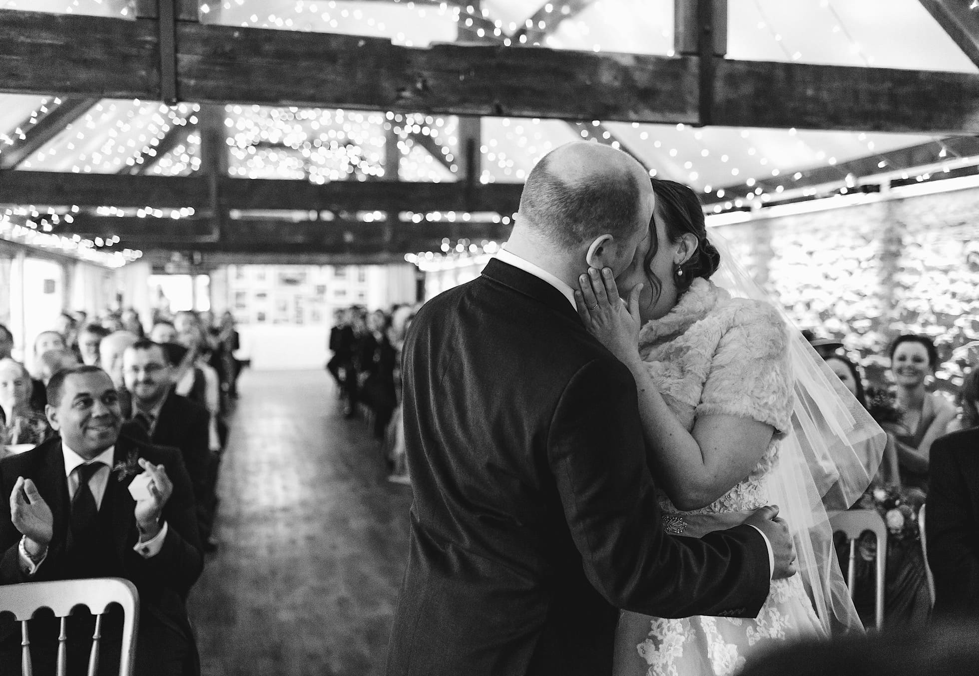 The first kiss indoor ceremony