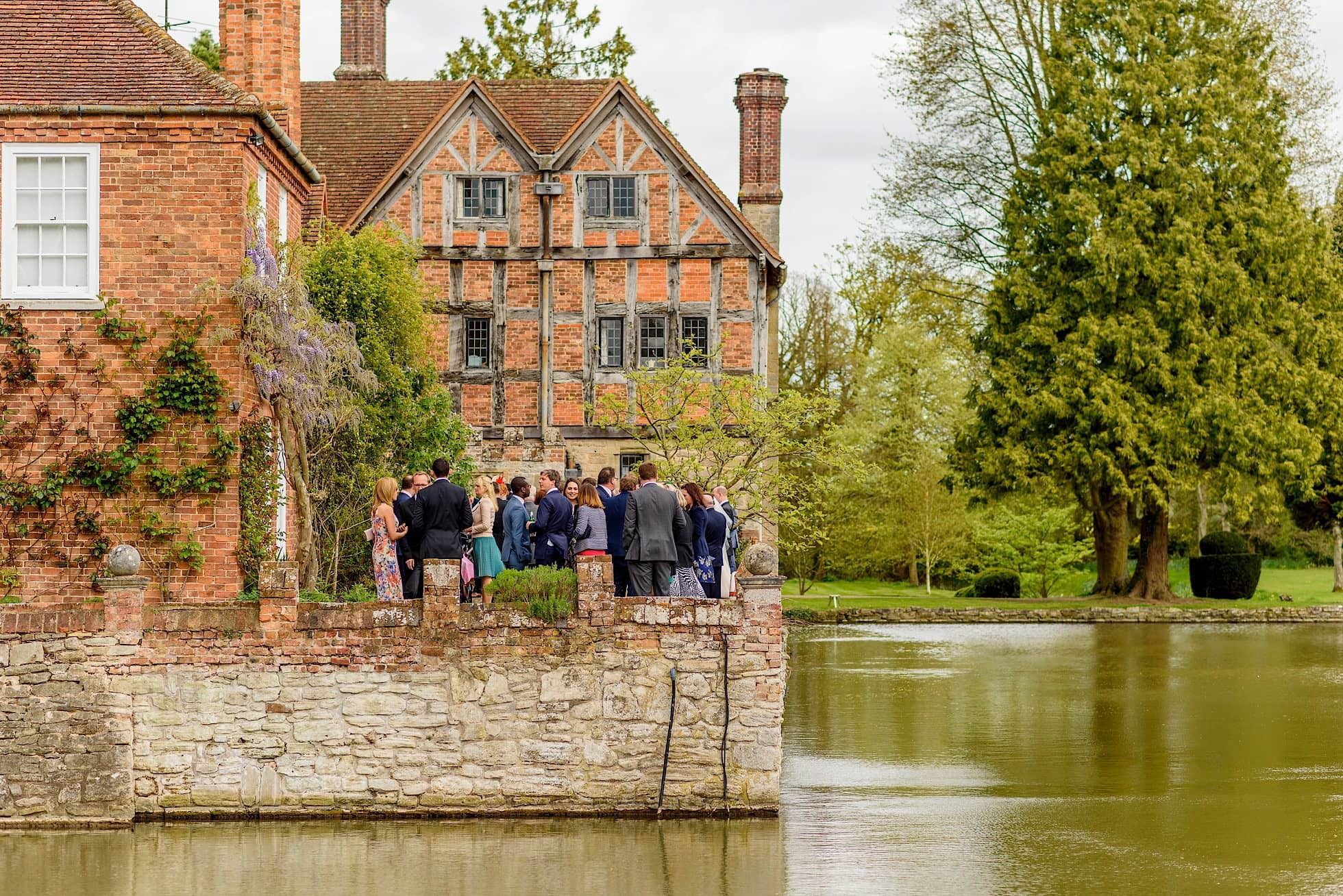 Moated manor house wedding venue