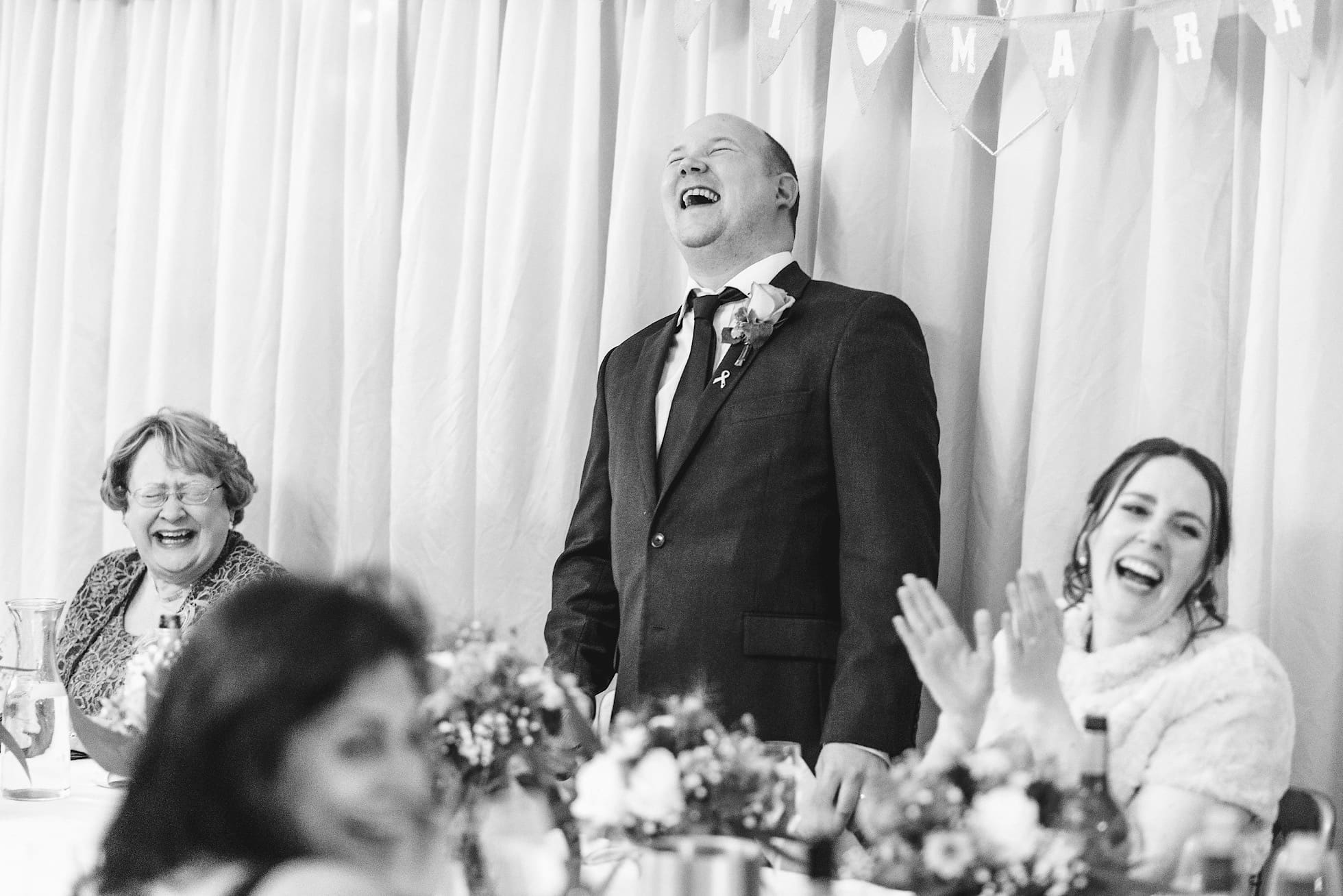 Best Worcestershire Wedding Photographer shot during the speeches