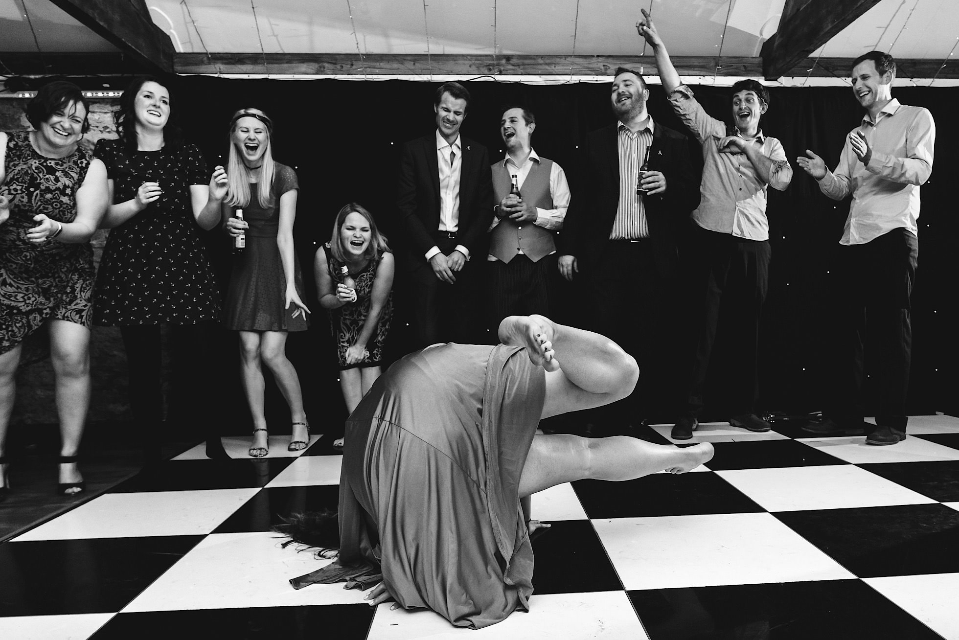 Incredible moves from the bridesmaids!