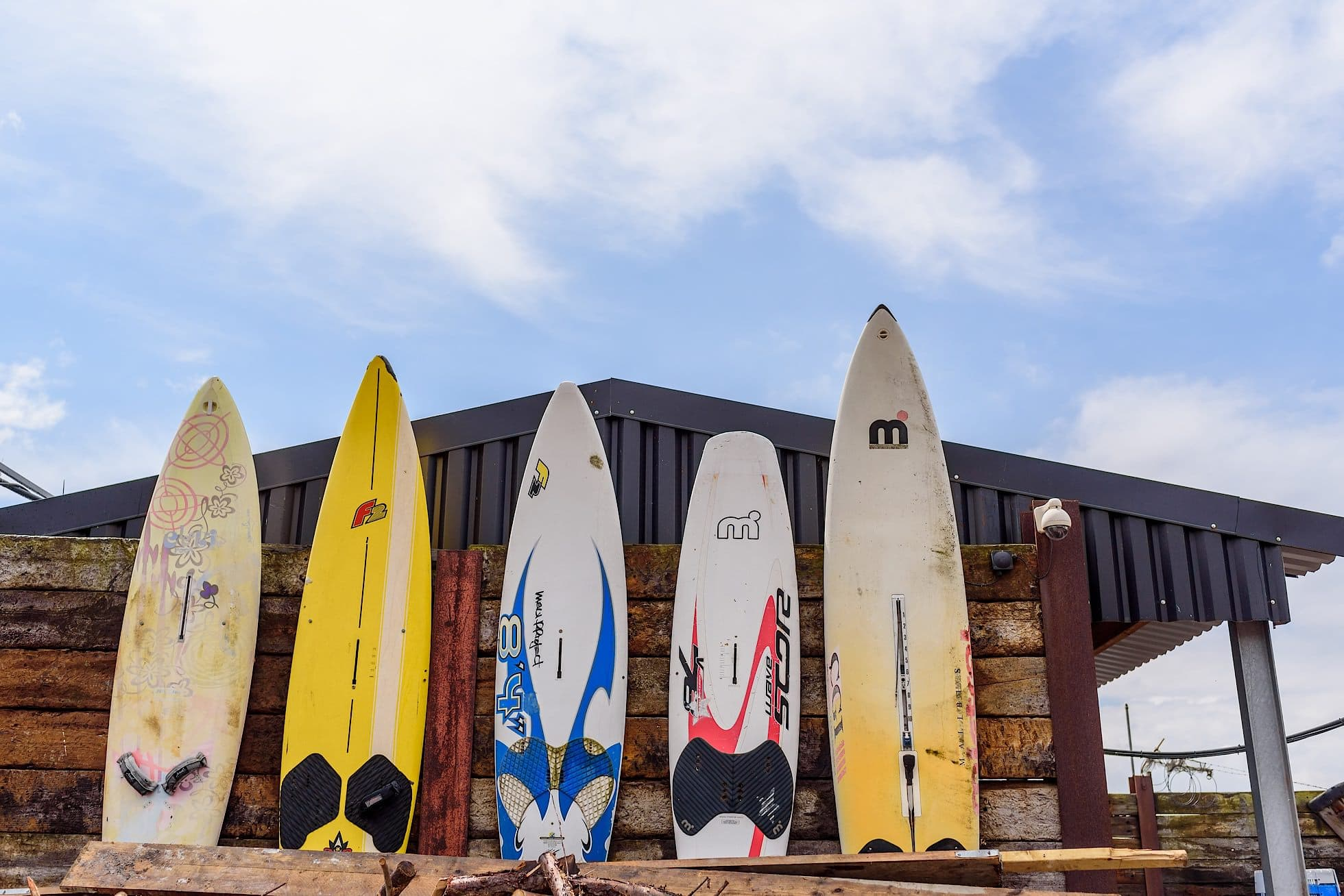 Surfboards outside the venue