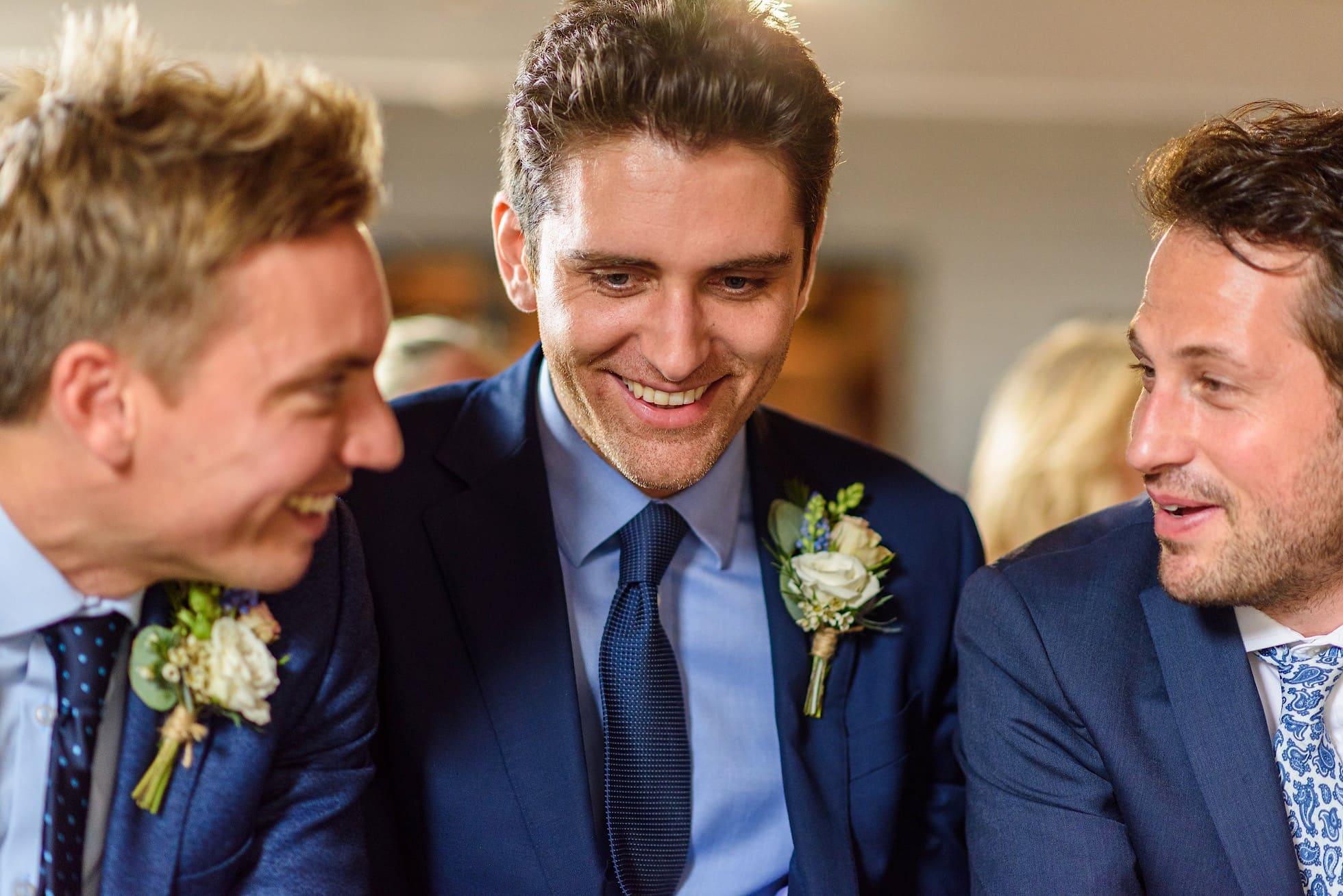 Groomsmen during the ceremony
