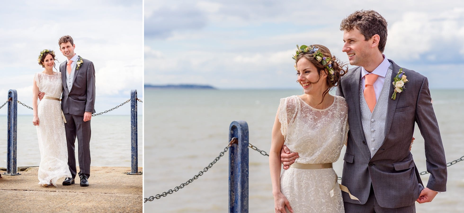 Photographs at the end of Whitstable pier