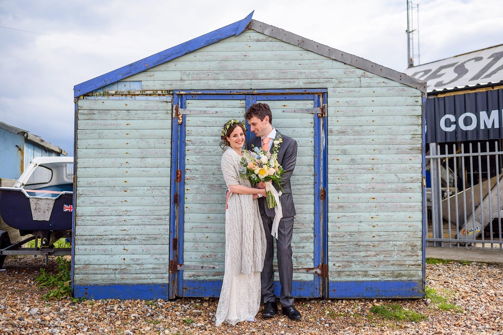 Whitstable beach hut wedding