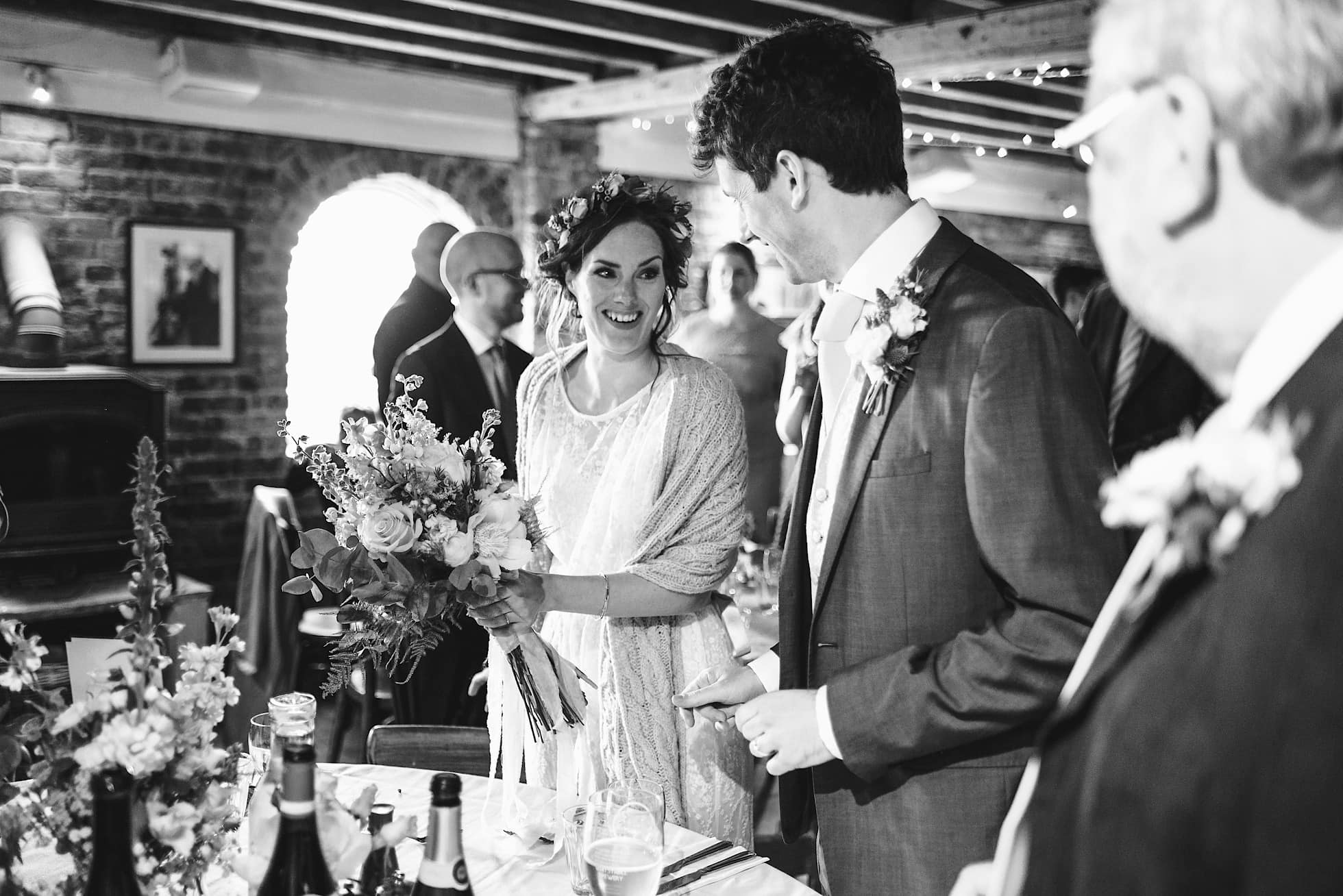 A warm welcome to the bride and groom