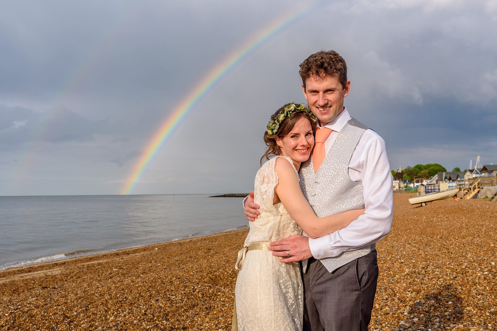 Whitstable beach wedding