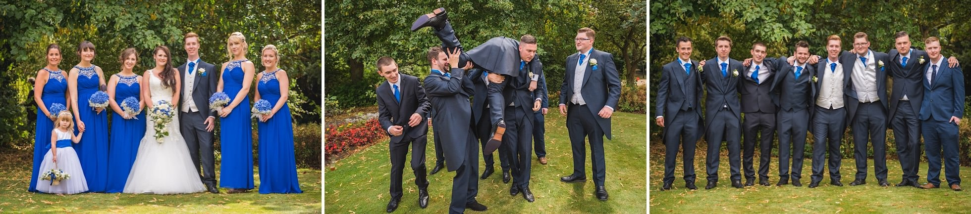 Groomsmen and bridesmaid shots