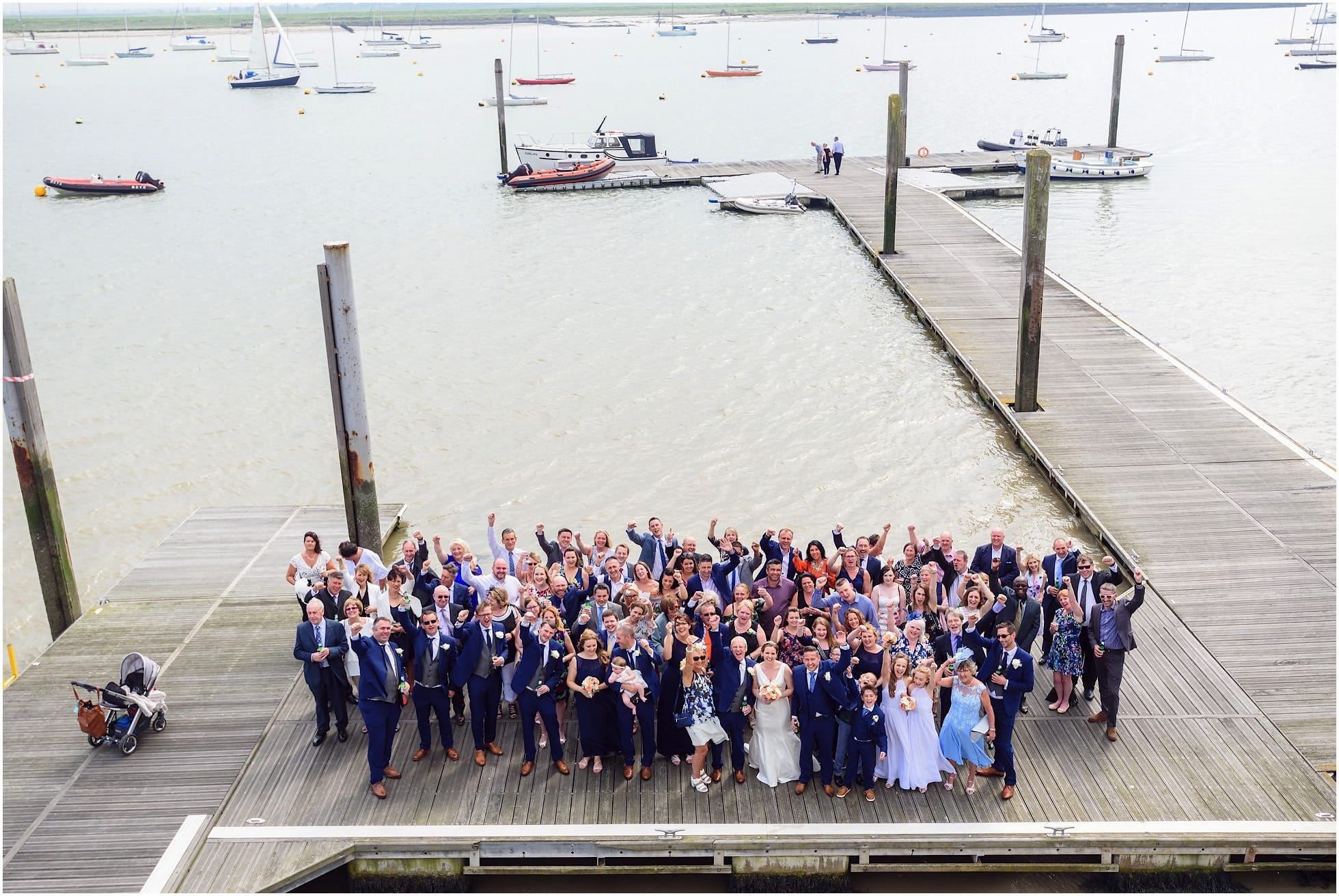 Whole group shot on the River Crouch