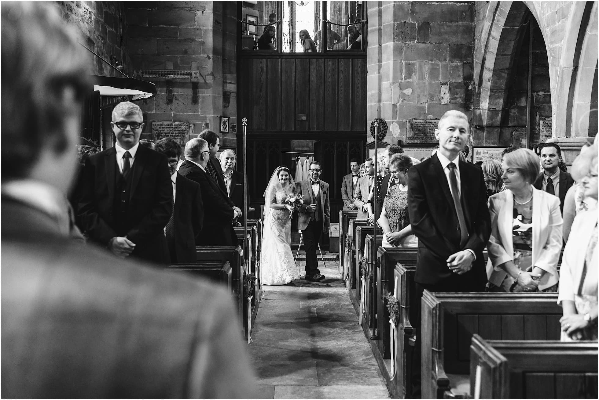 first look down the aisle