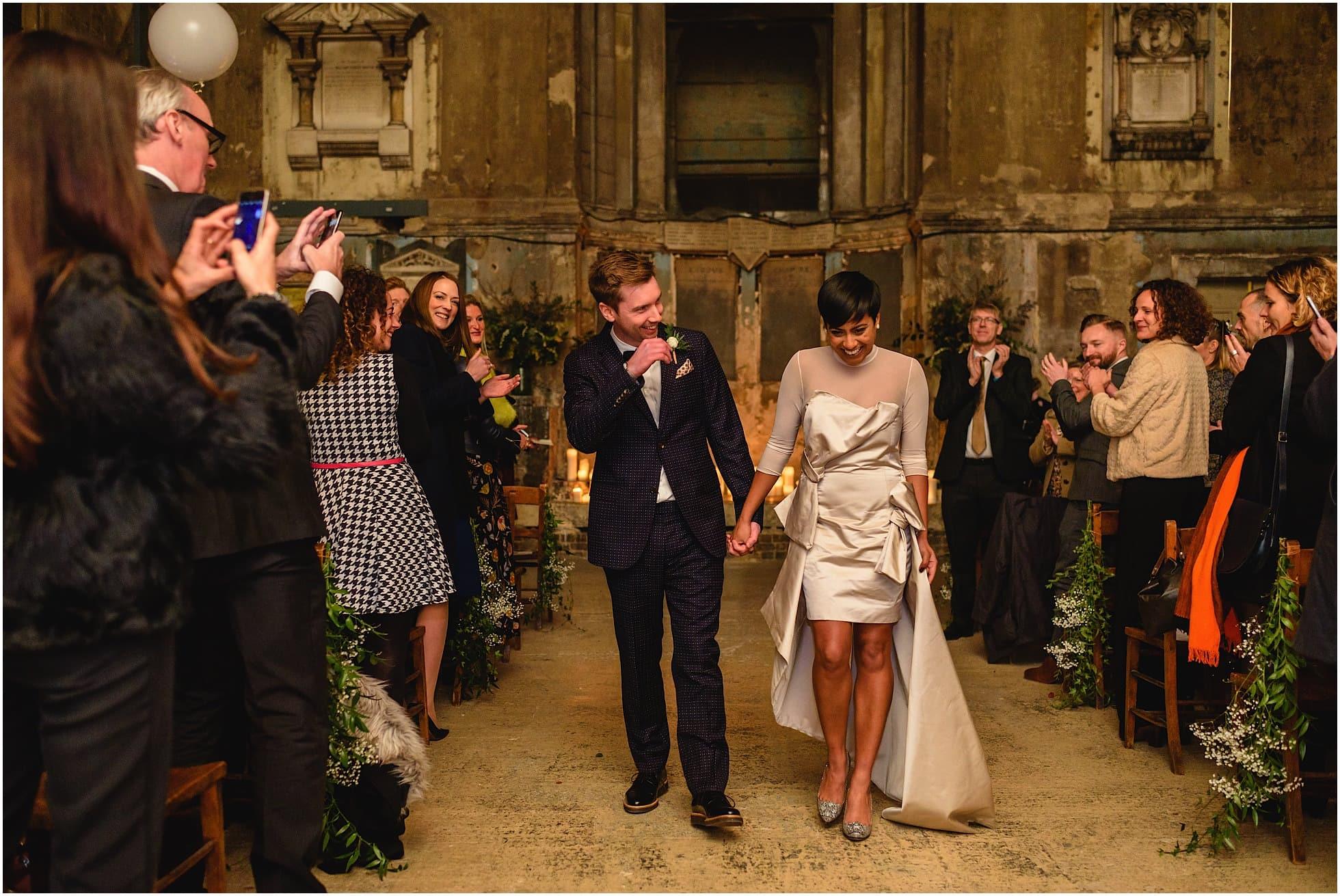 asylum chapel wedding photographer natural shot