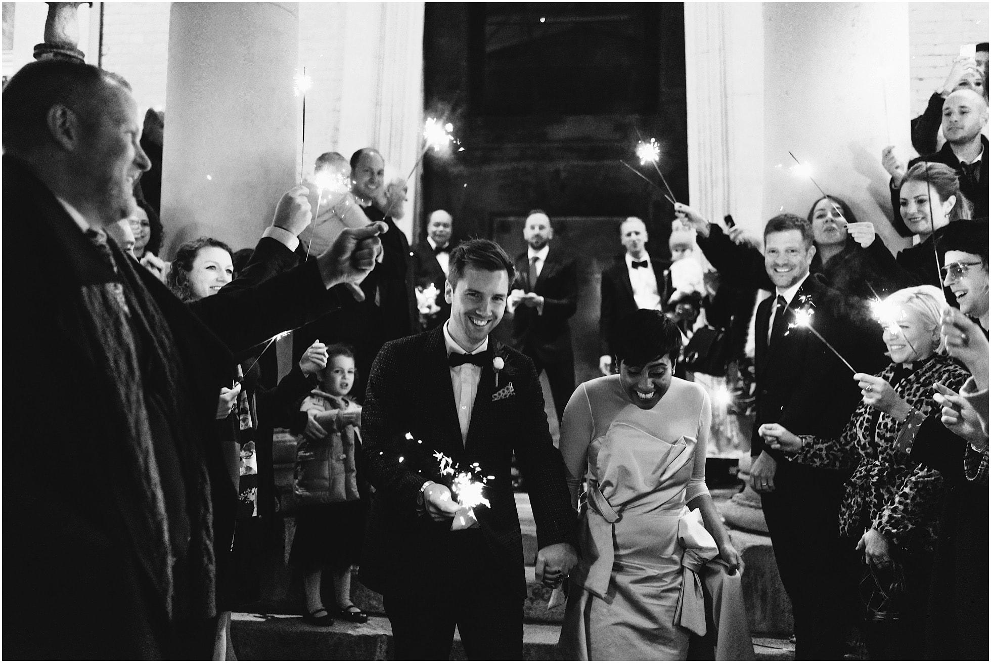 Sparkler Exit at the Asylum Chapel Wedding
