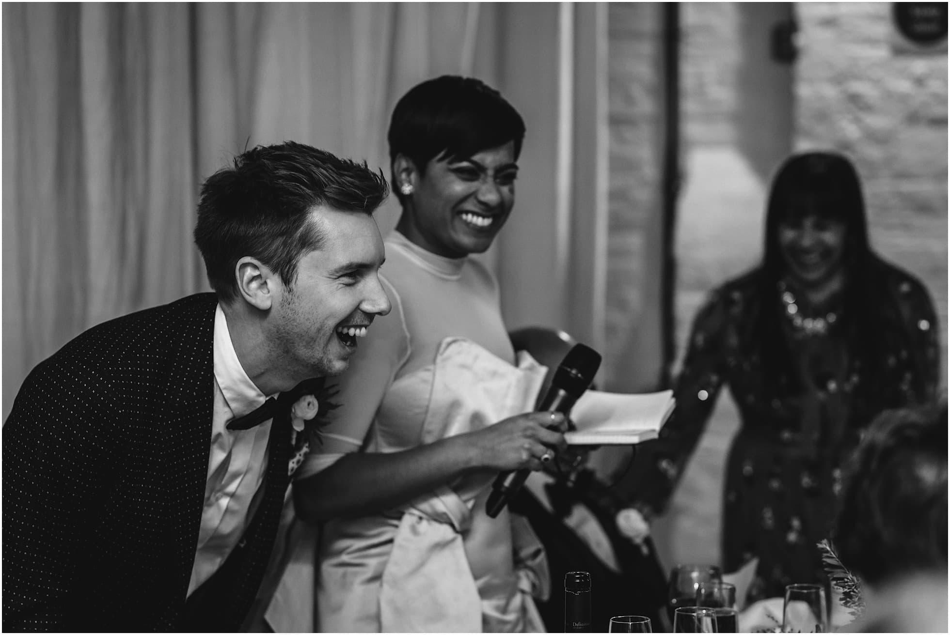 Bride giving a speech
