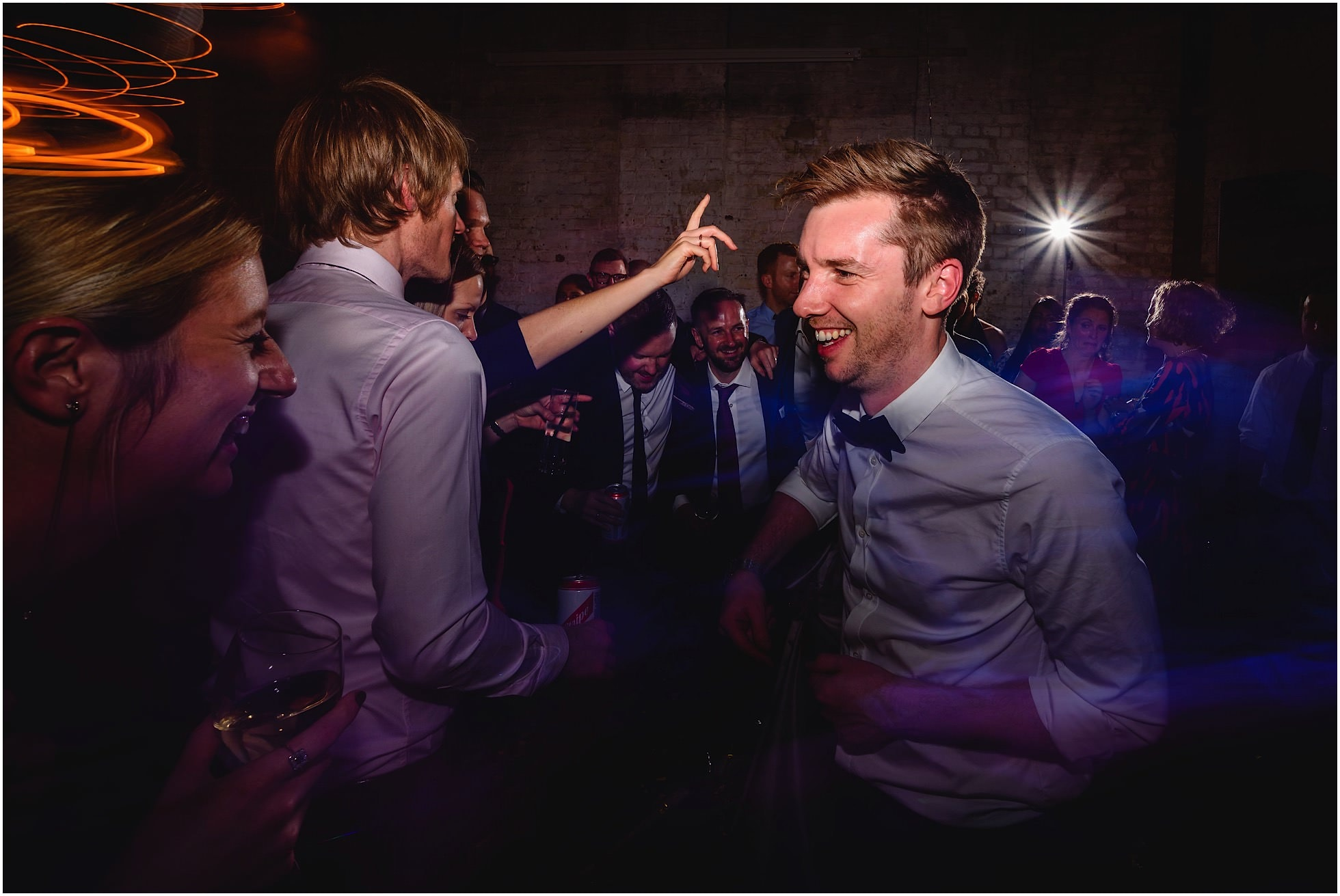 Groom having the best night of his life