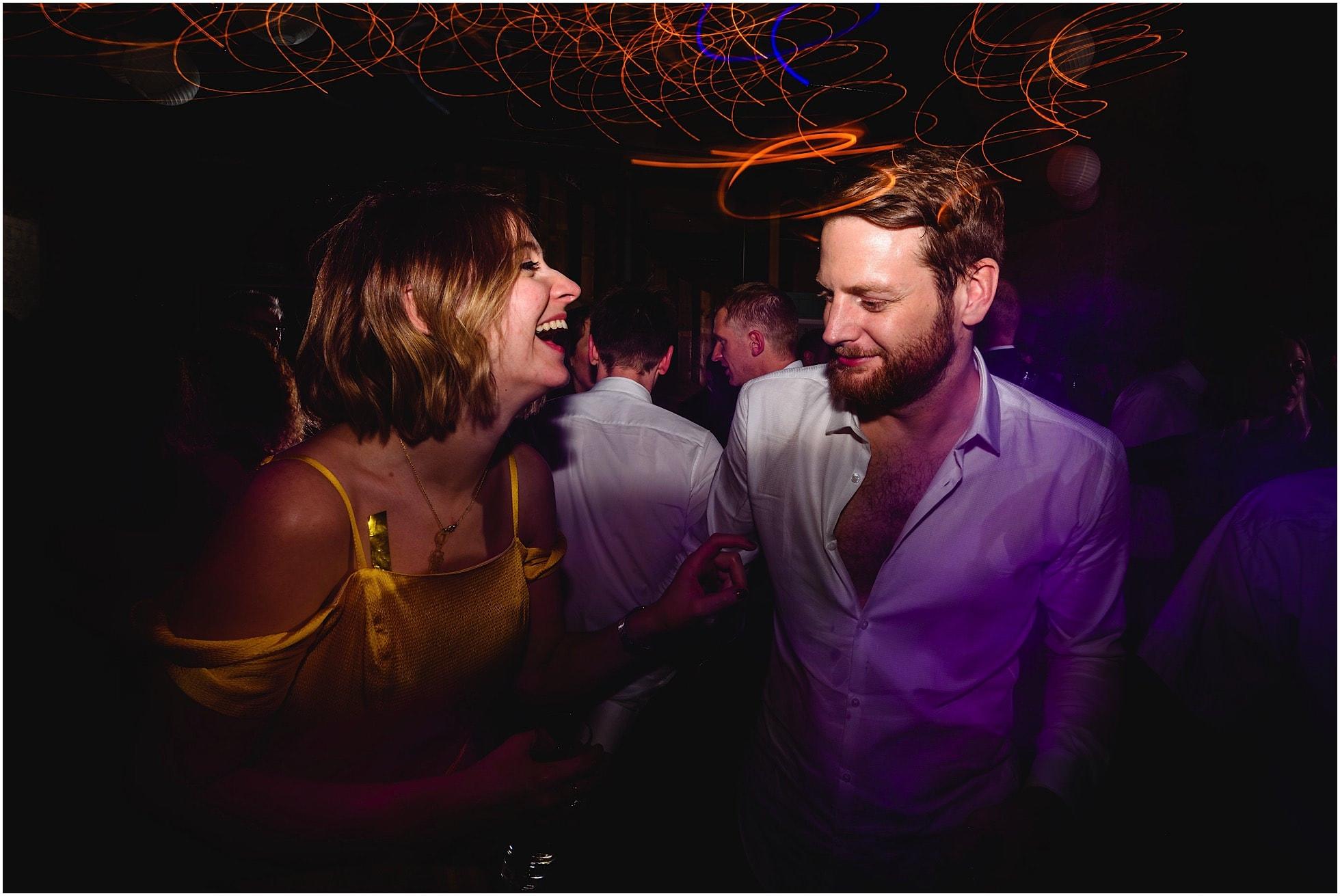 Laughter on the dancefloor