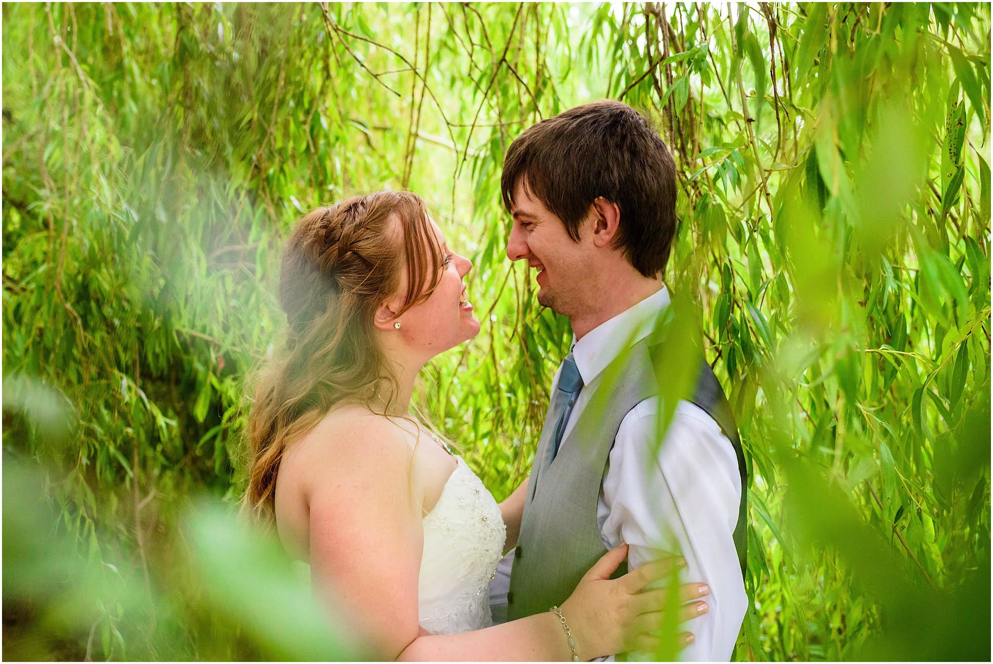 Couple in the weeping willows