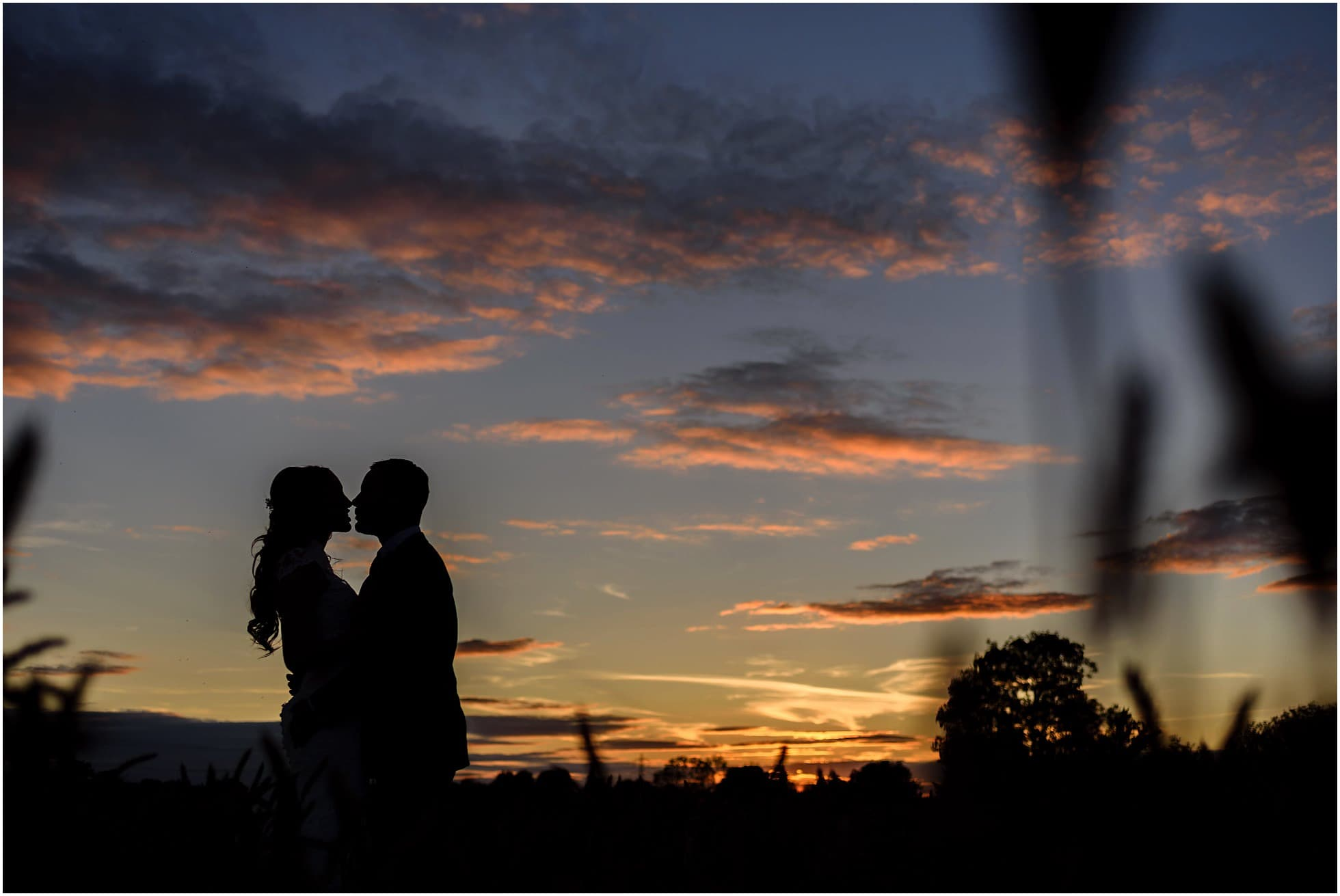 romantic sunset silhouette