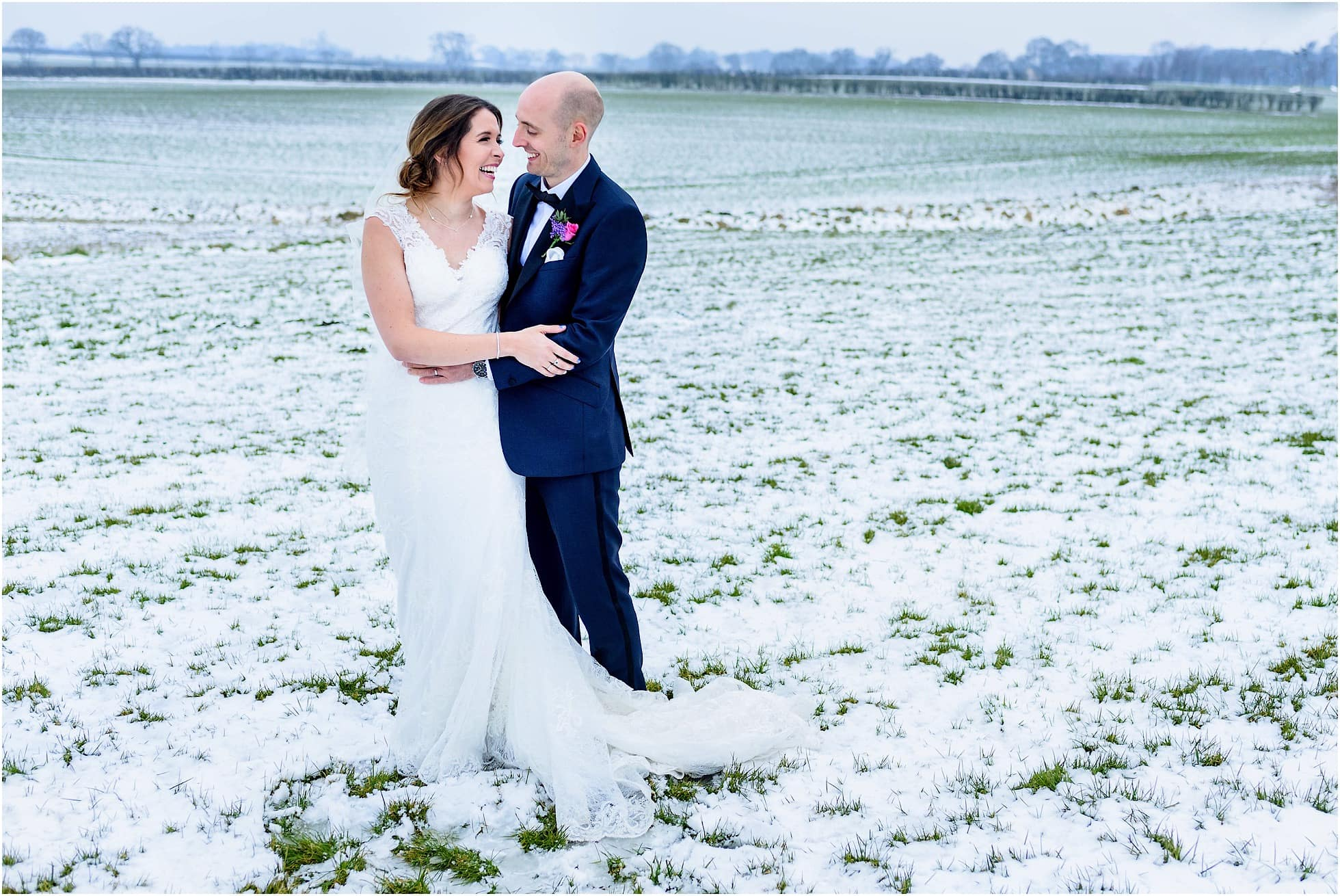 Priory Cottages Wedding Photographer in Winter