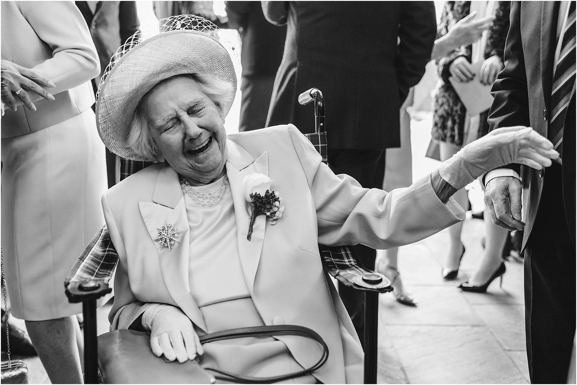 Grandma laughing