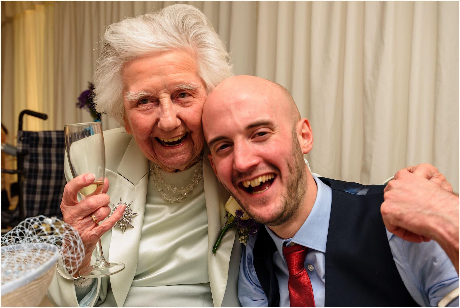 Grandma and Grandson big smiles