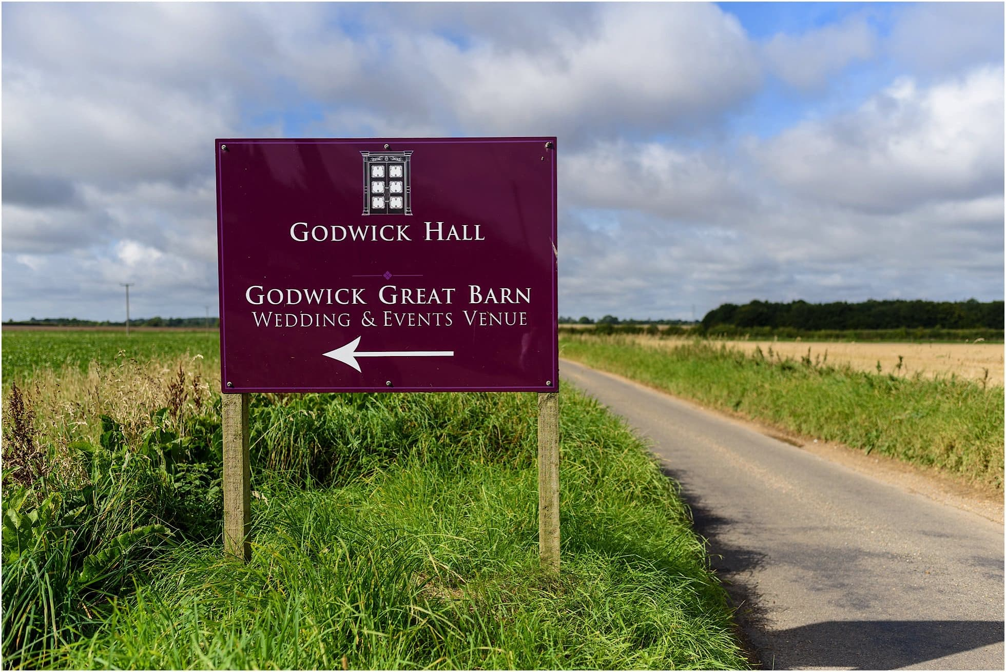 godwick hall sign in rural Norfolk