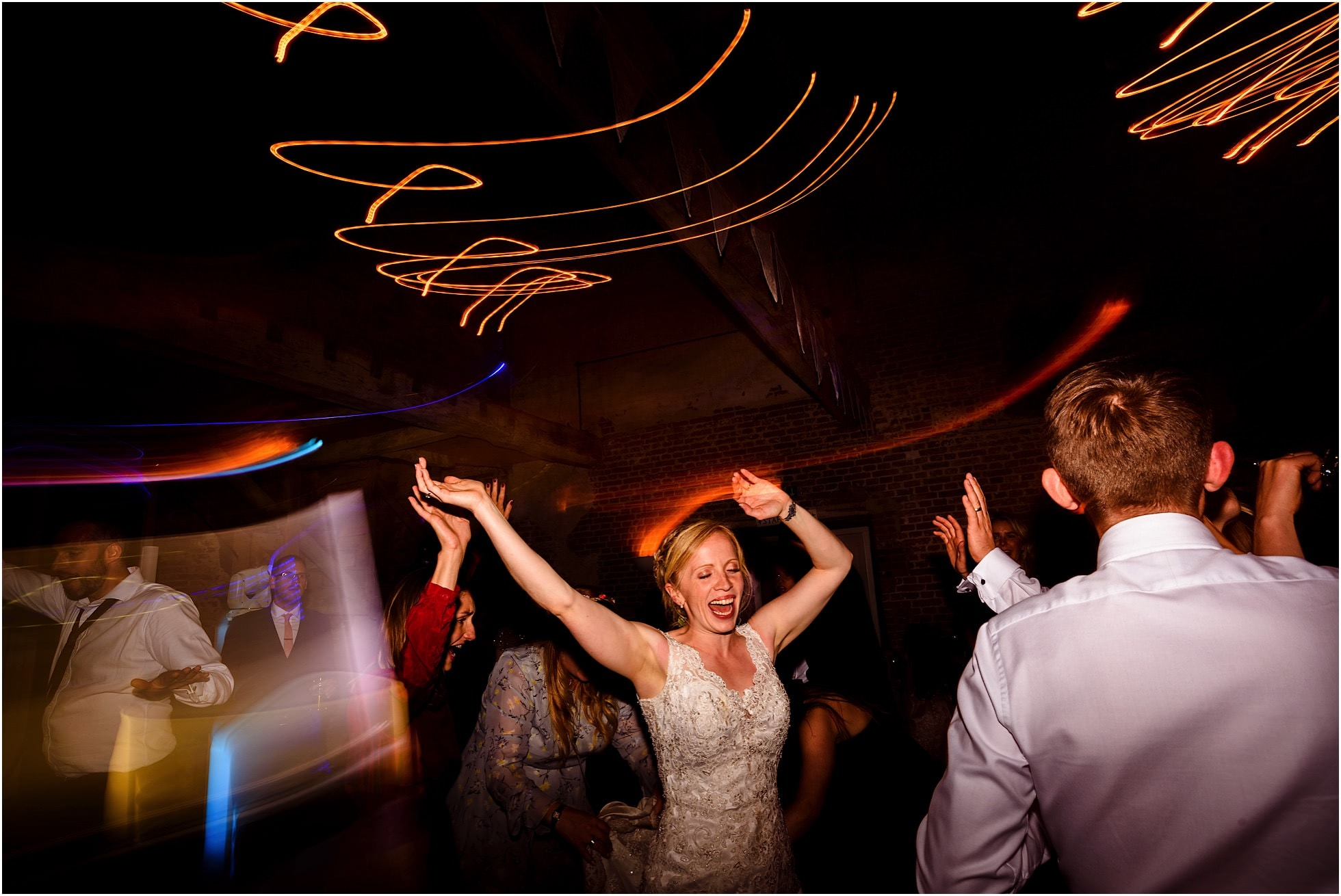 very happy bride on the dancefloor