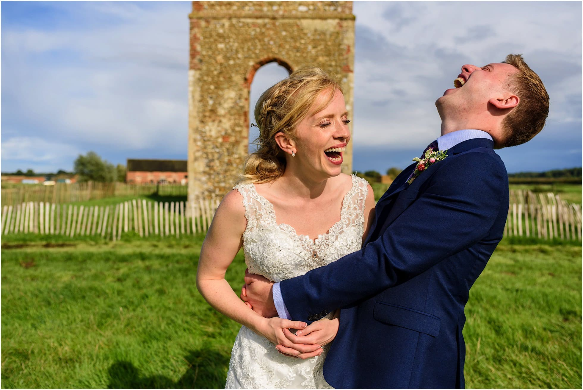 Godwick Barn Wedding Photography candid moment