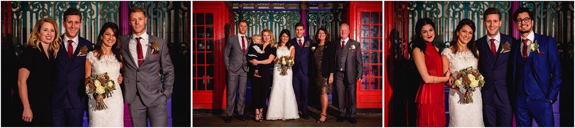 Group wedding photos at smithfield market