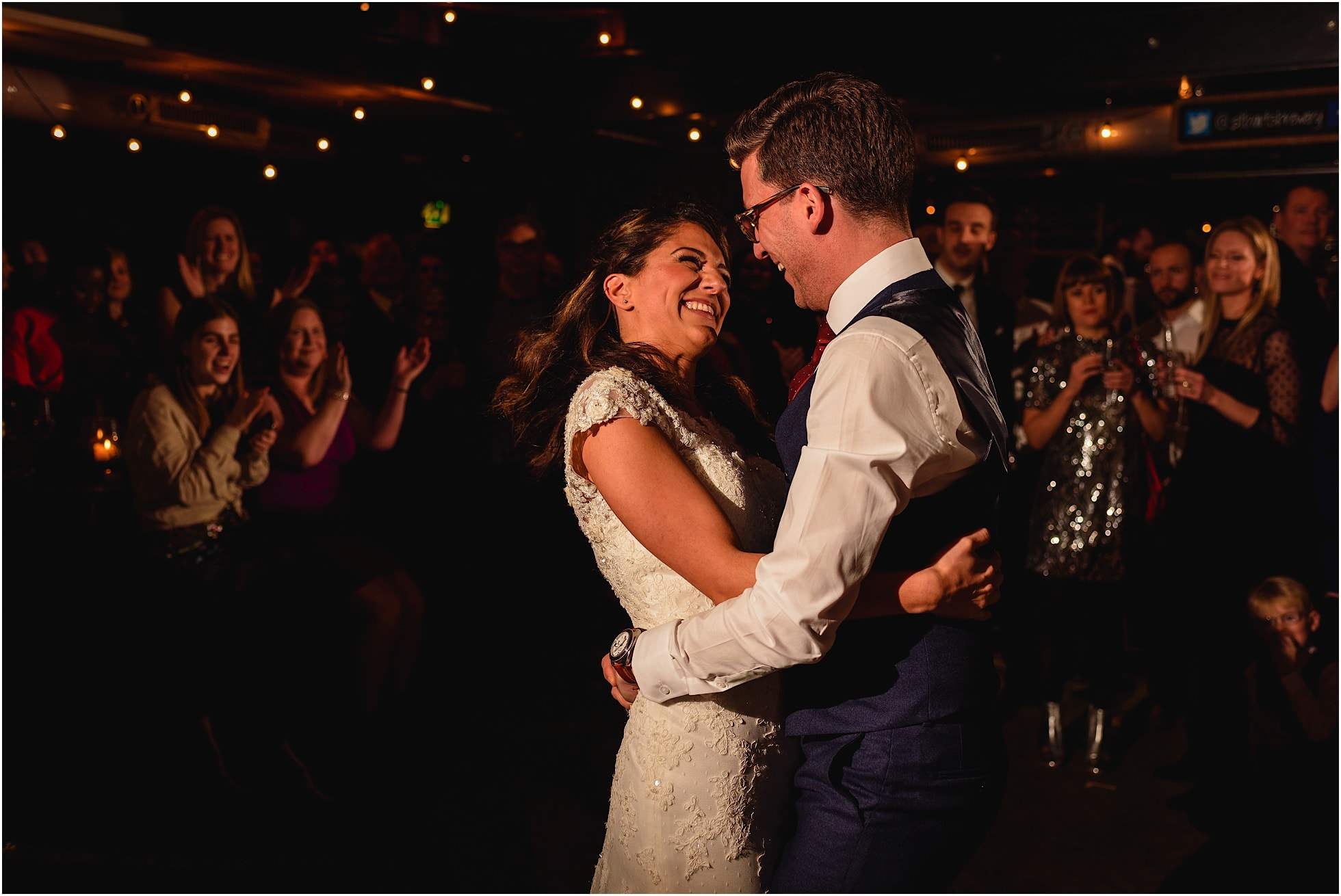 first dance at st barts brewery wedding, london