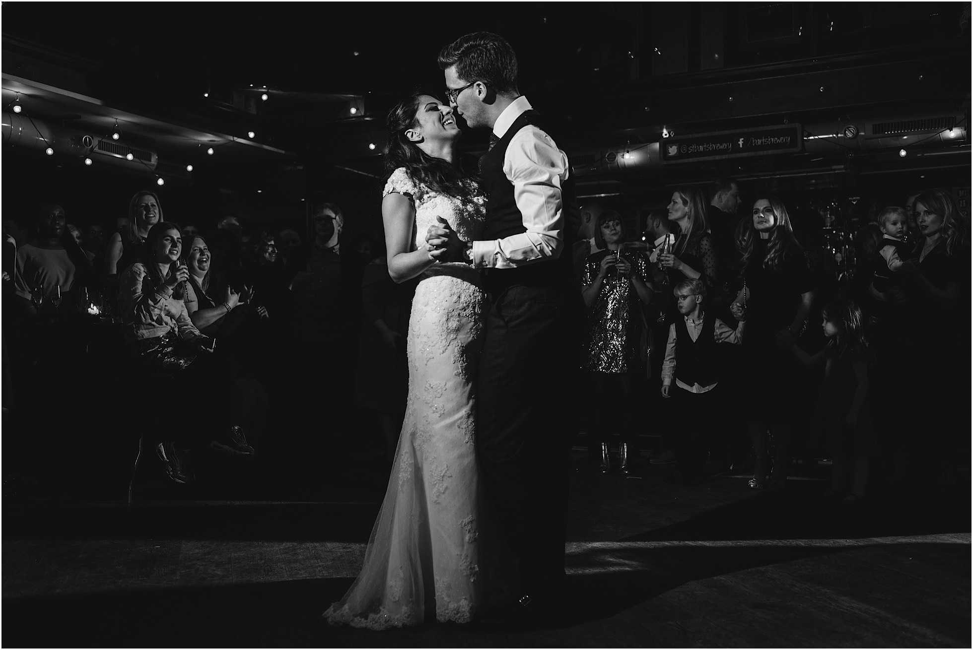first dance black and white image