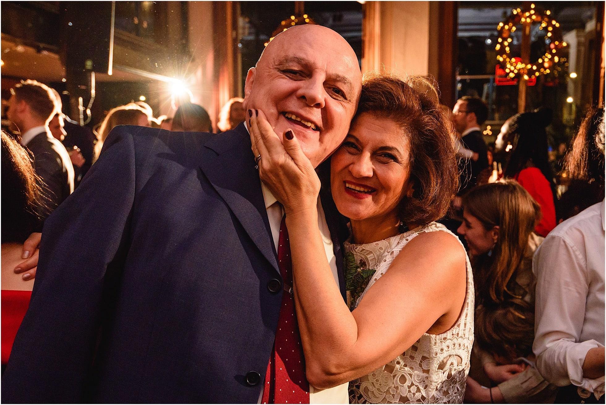 mum and dad smiling