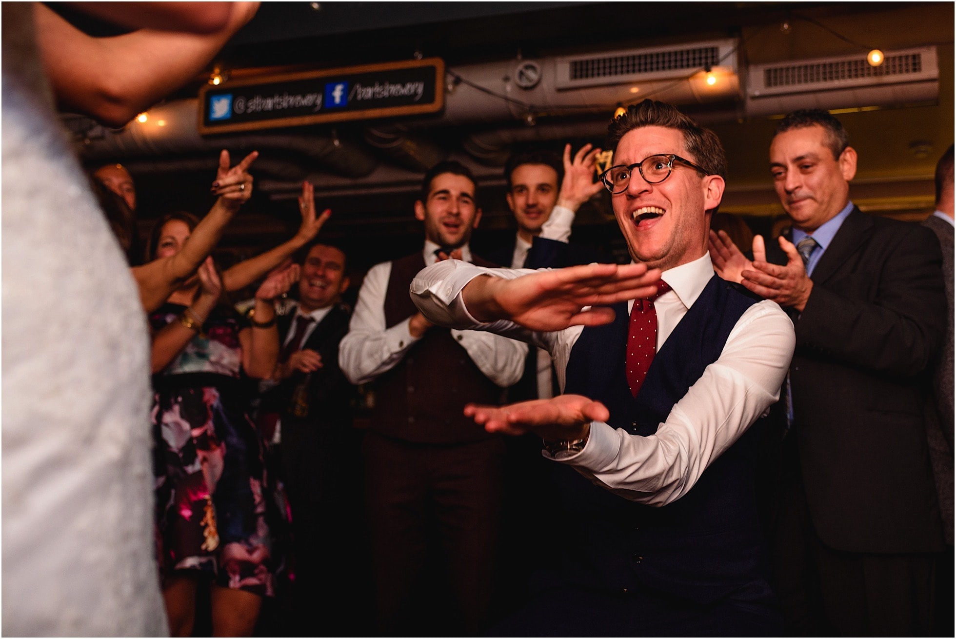 groom dancing at st barts