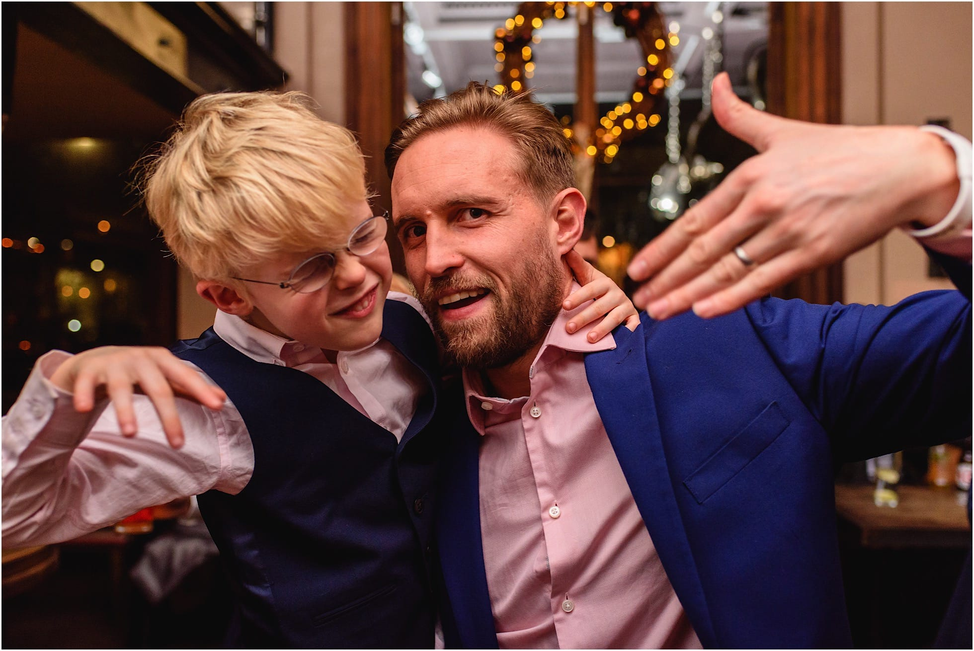 father and son looking cool
