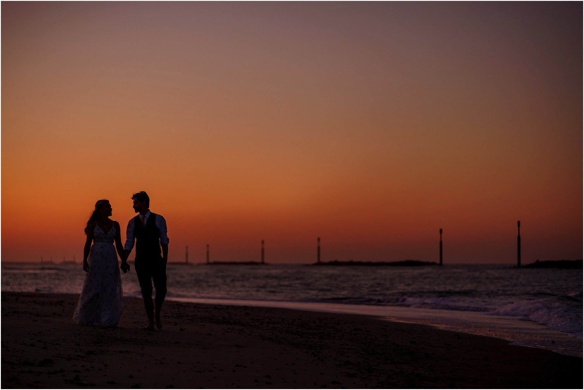 Norfolk beach wedding