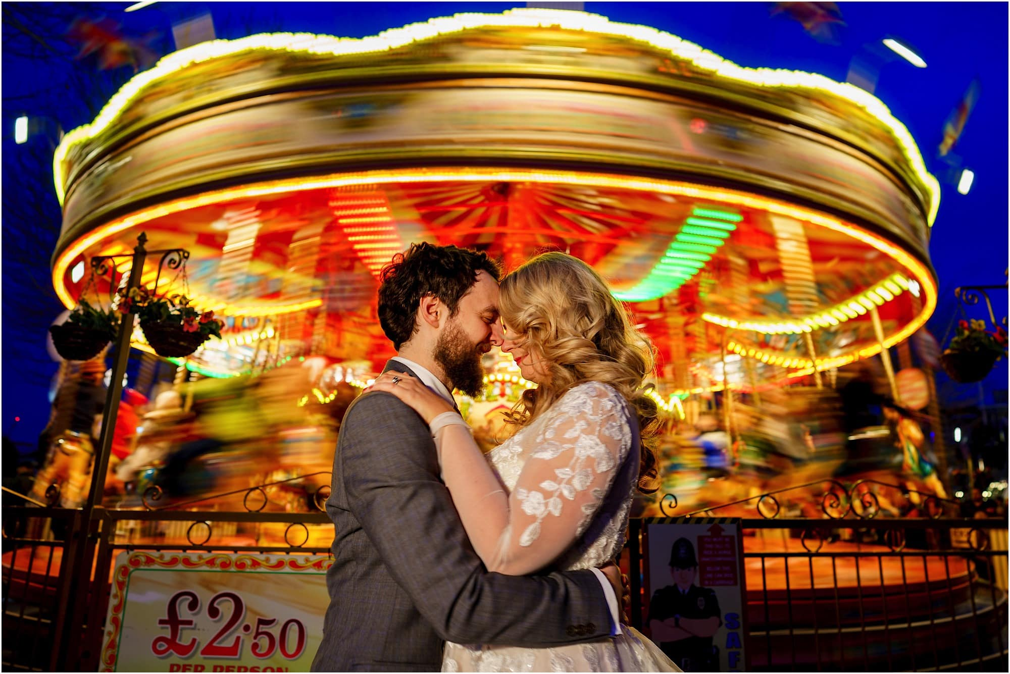 Fairground wedding