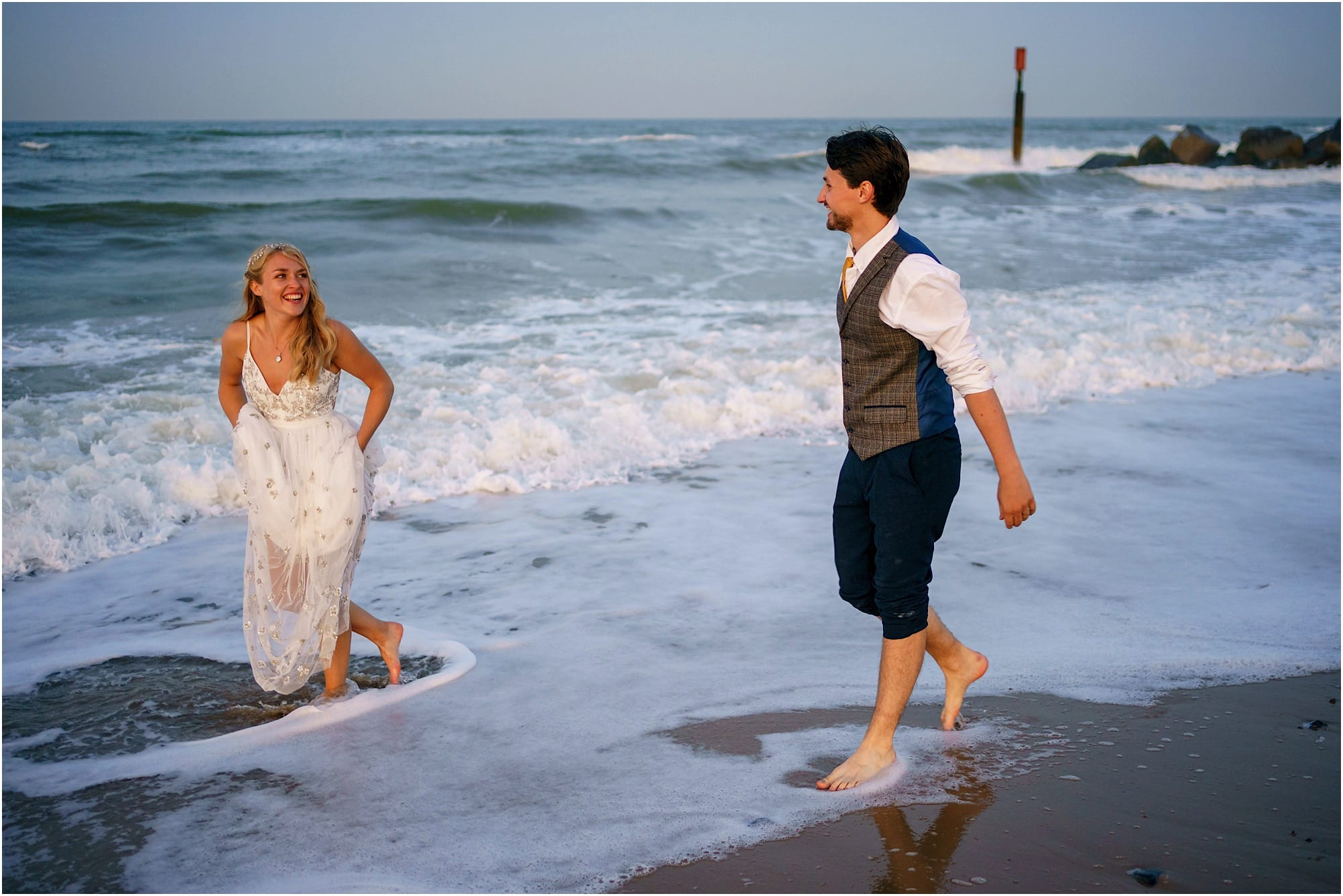 Waxham Barn Beach Wedding