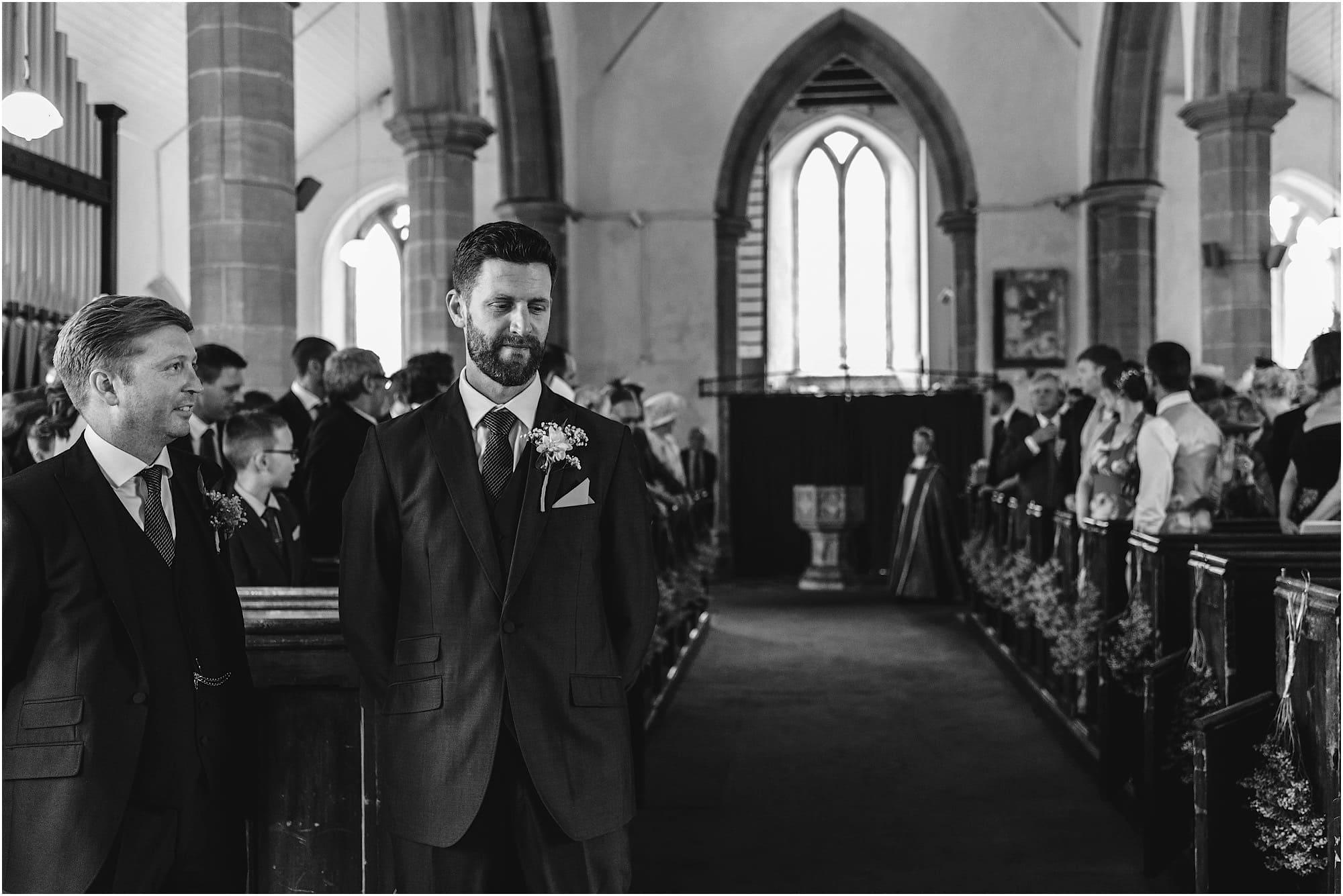 groom anxiously waiting