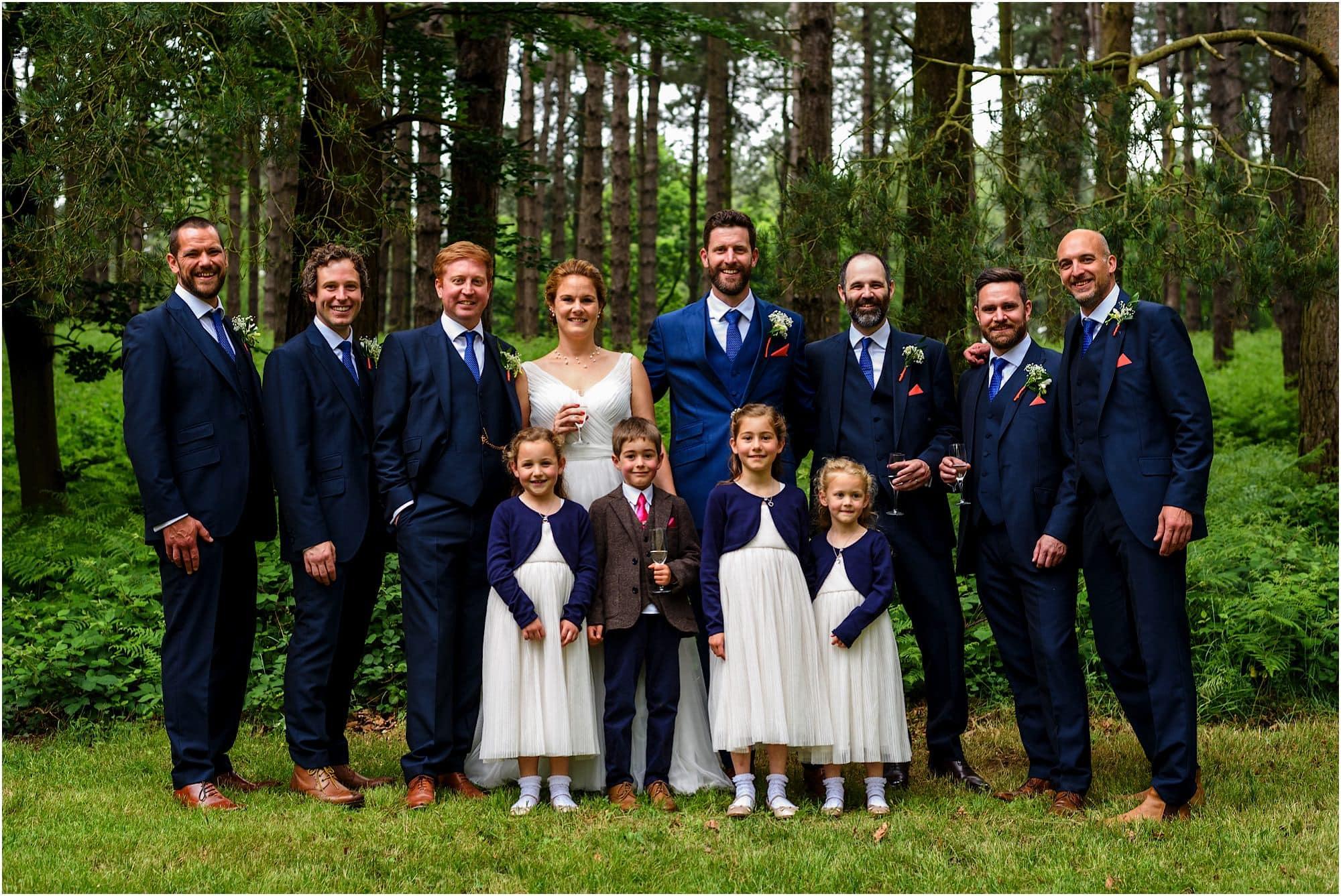 groomsmen and kids