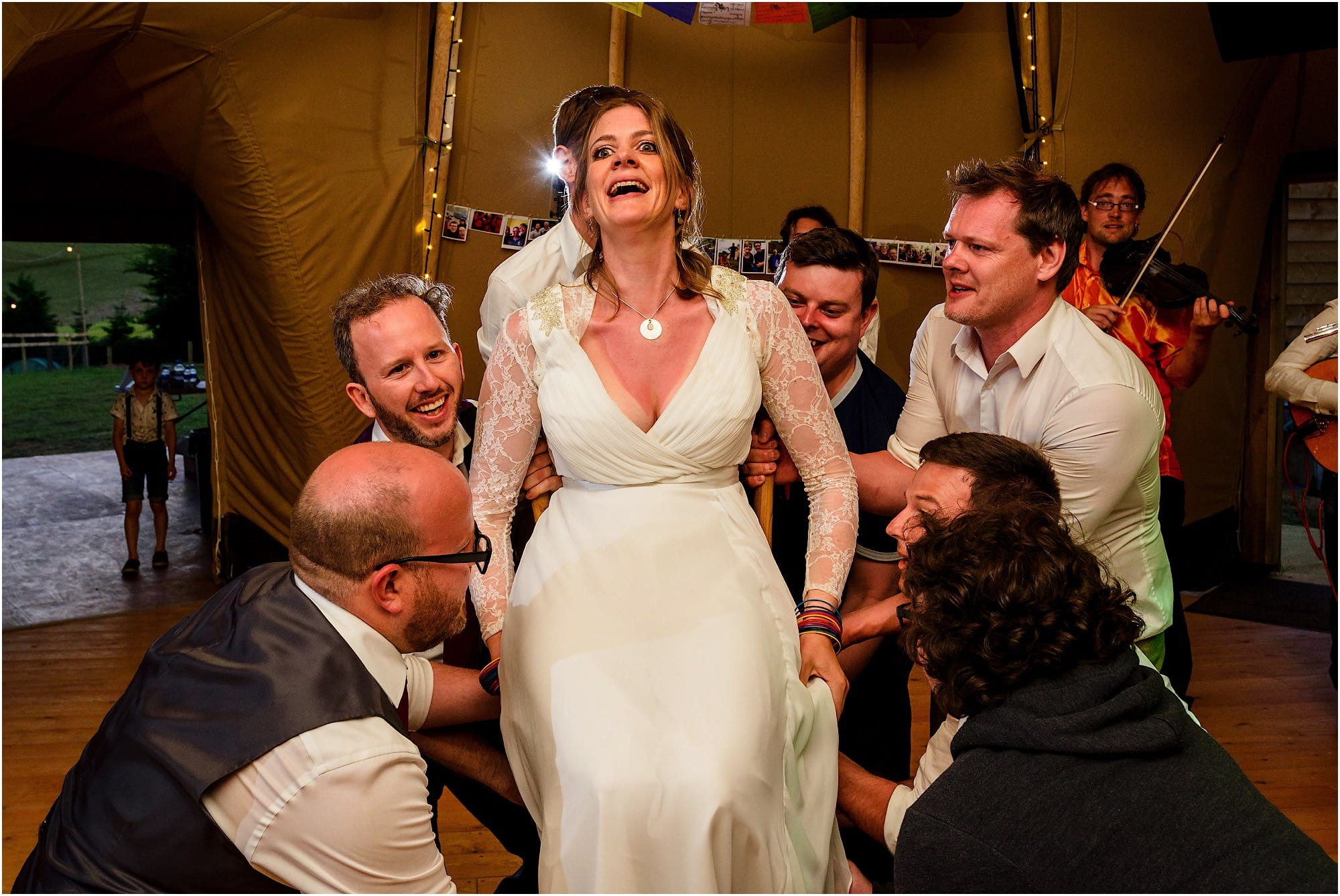 bride being lifted