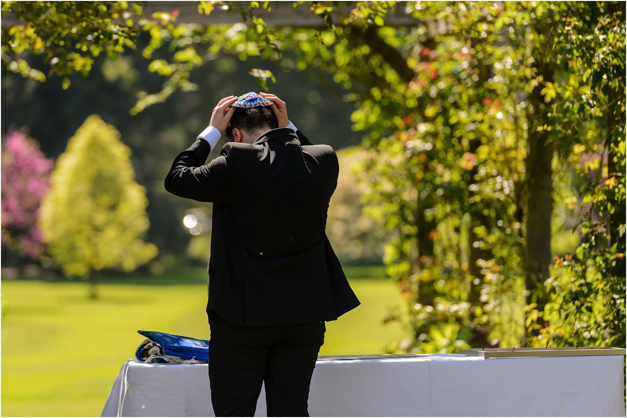 Jewish wedding in the Fellows Garden