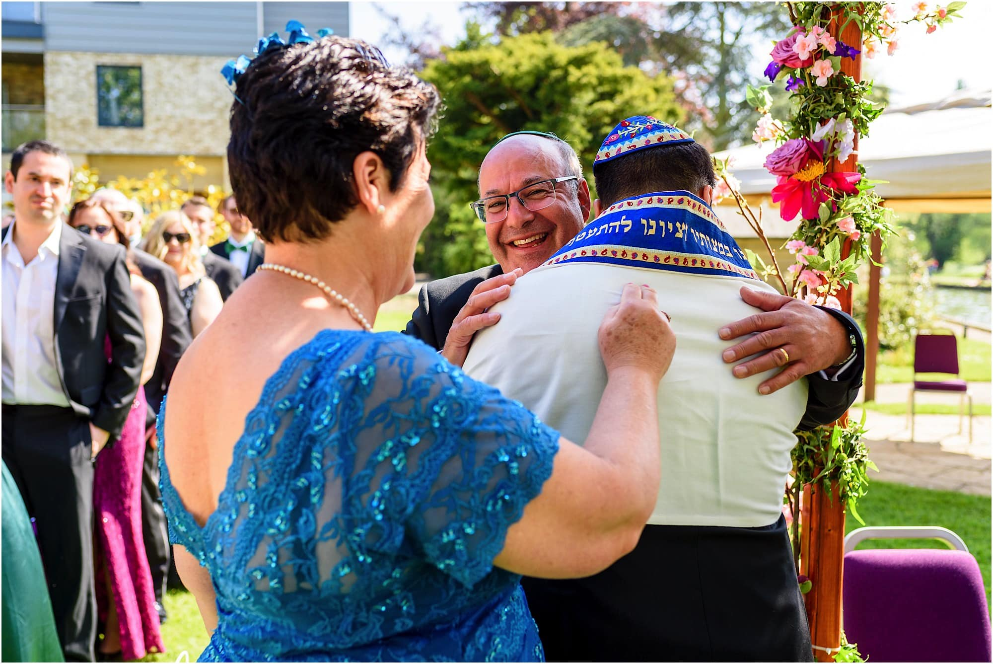 groom greated by bride's parents