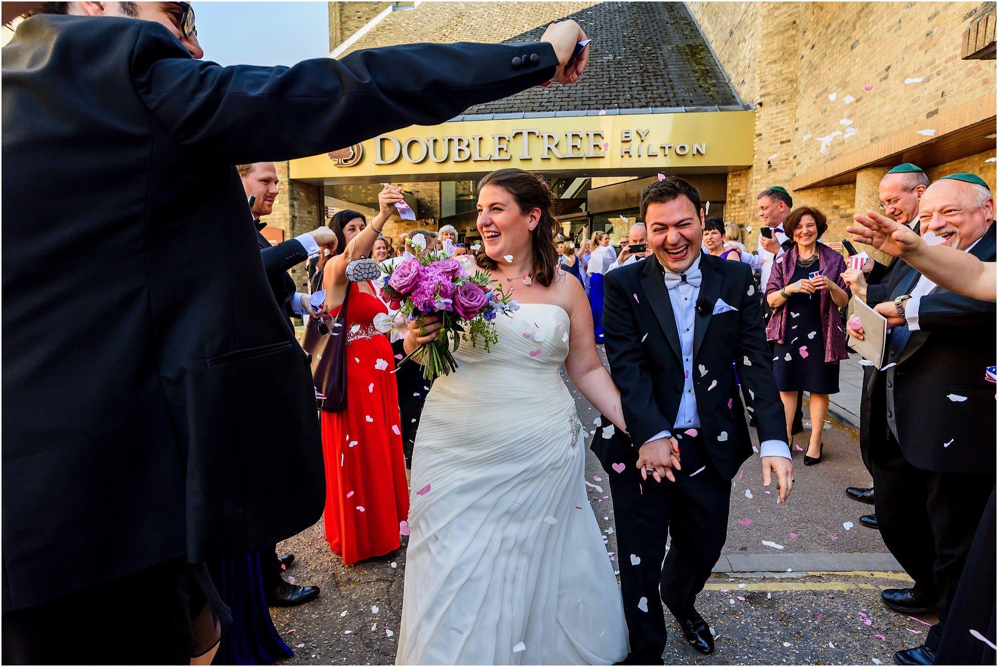 DoubleTree by Hilton Cambridge wedding confetti