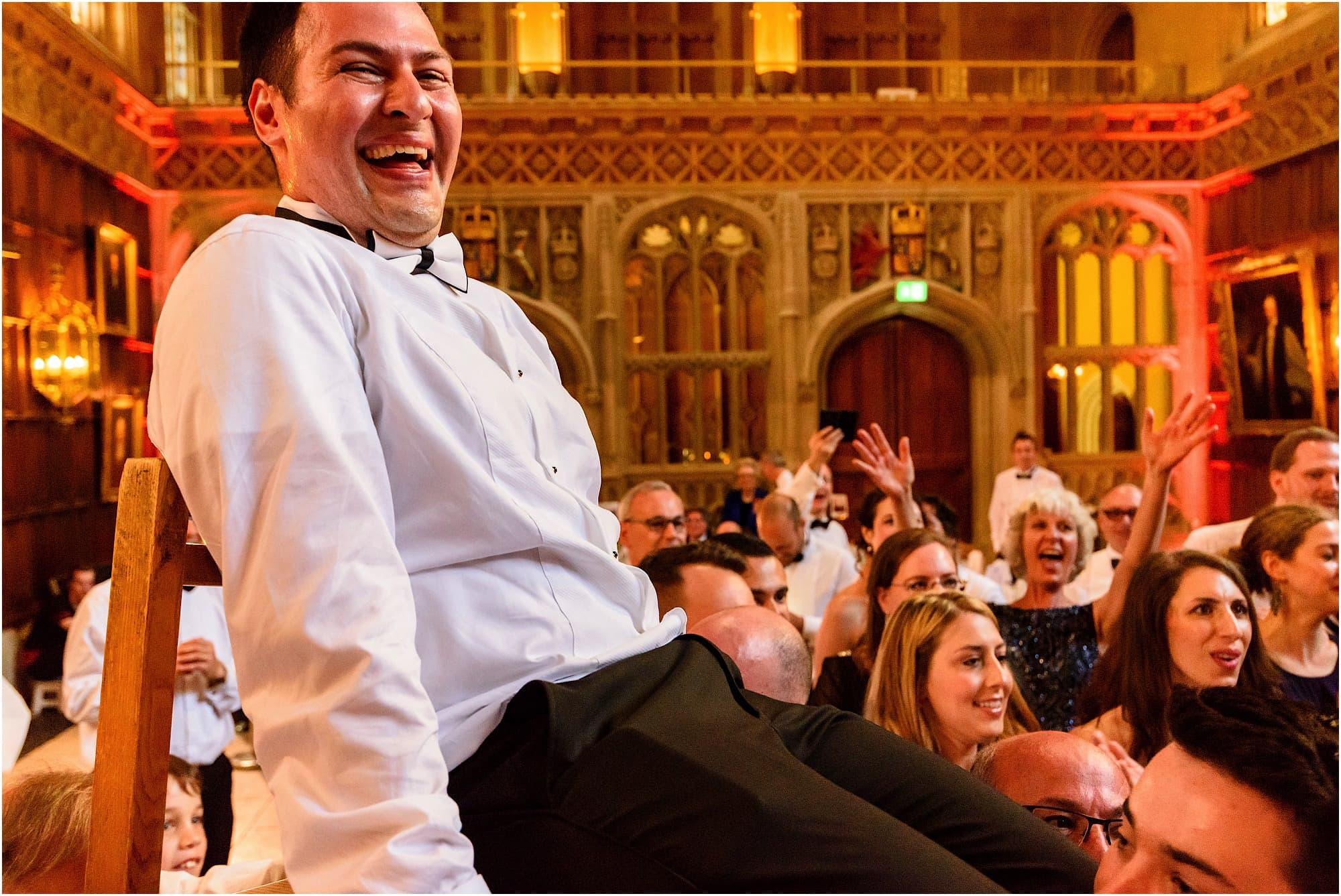 Israeli dancing groom lifted up