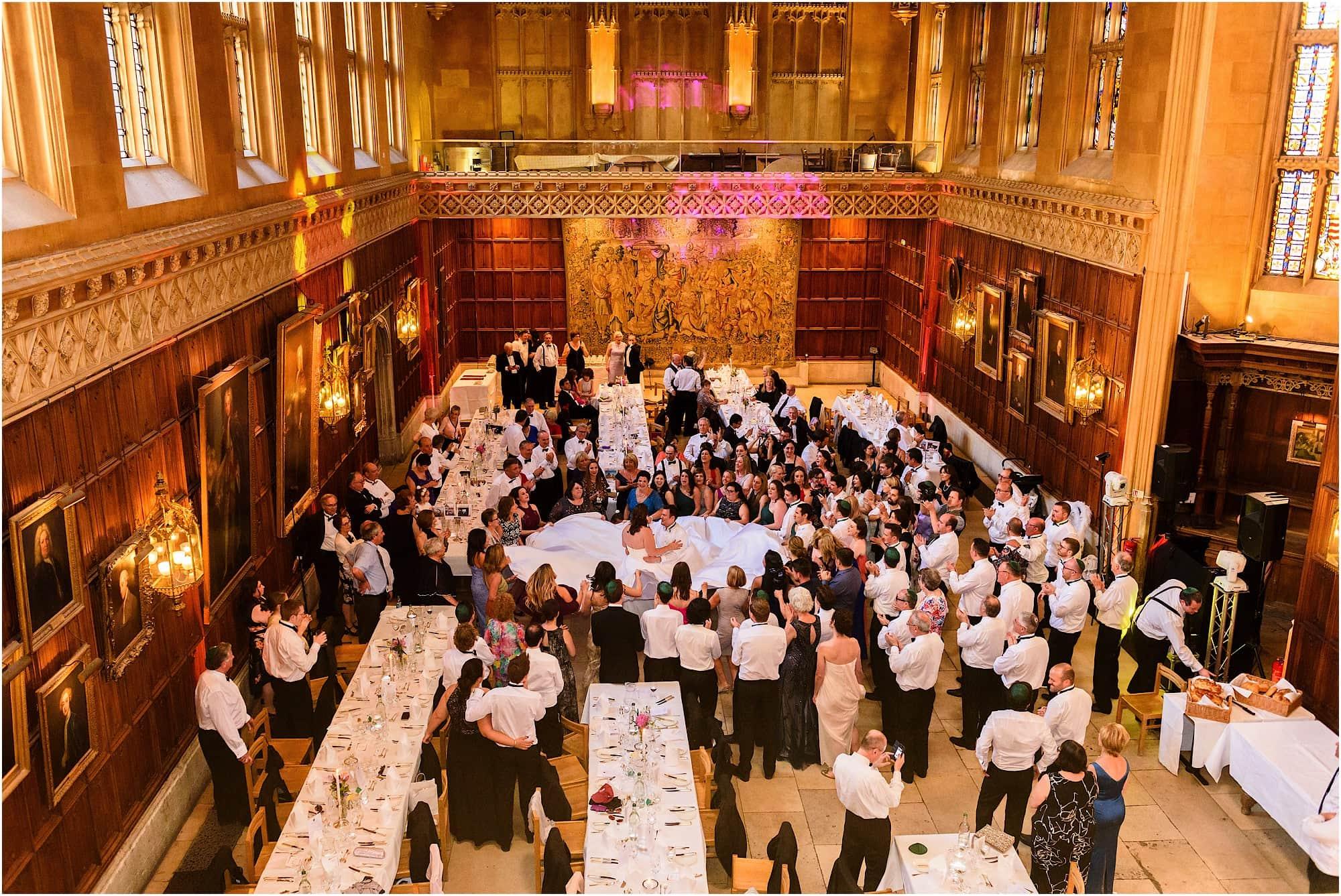 Kings College Cambridge Wedding Jewish Dancing